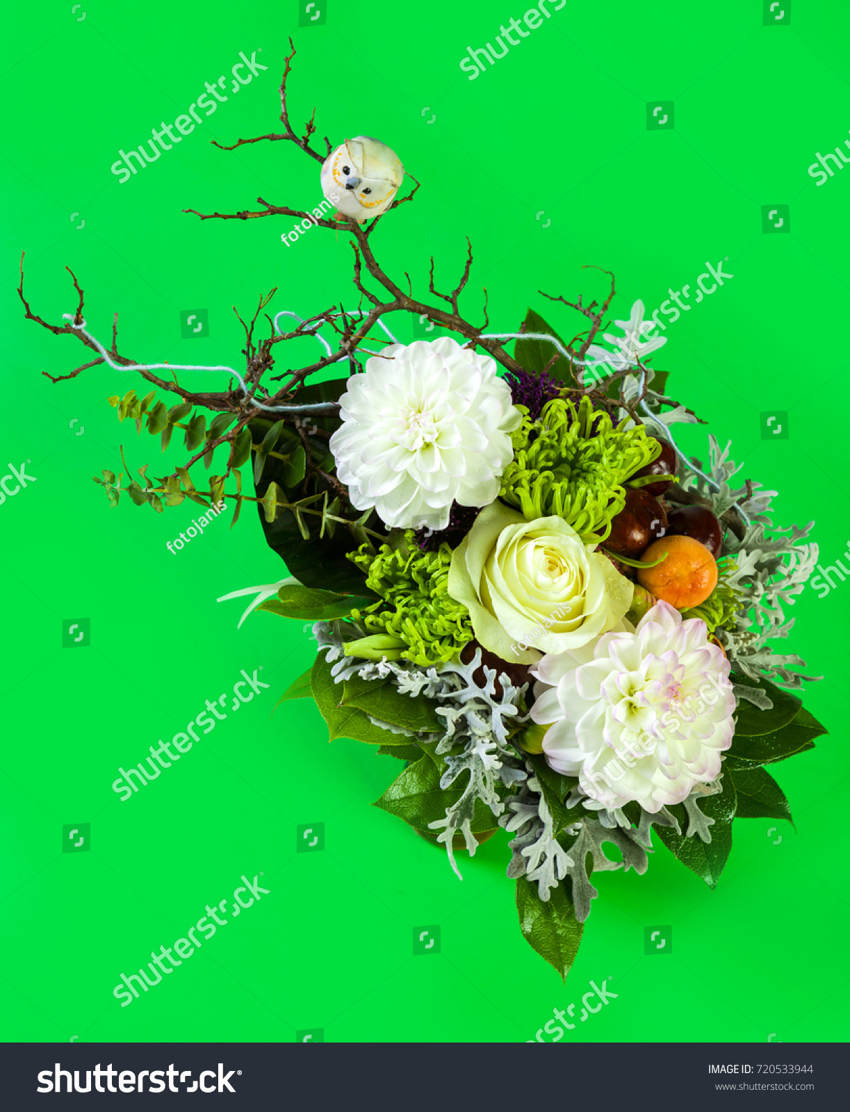 Beautiful Flower Arrangements Winter Spring Summer Stock Photo