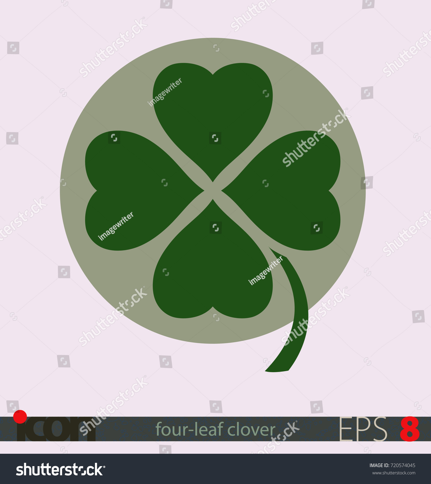 Four Leaf Clover Symbol Luck Vector Stock Vector Royalty Free
