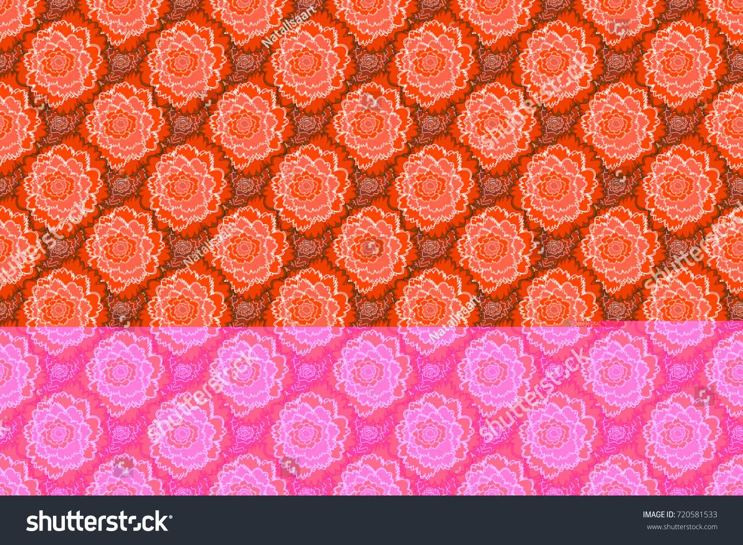 Wedding Invitation Template Floral Seamless Pattern Stock ...