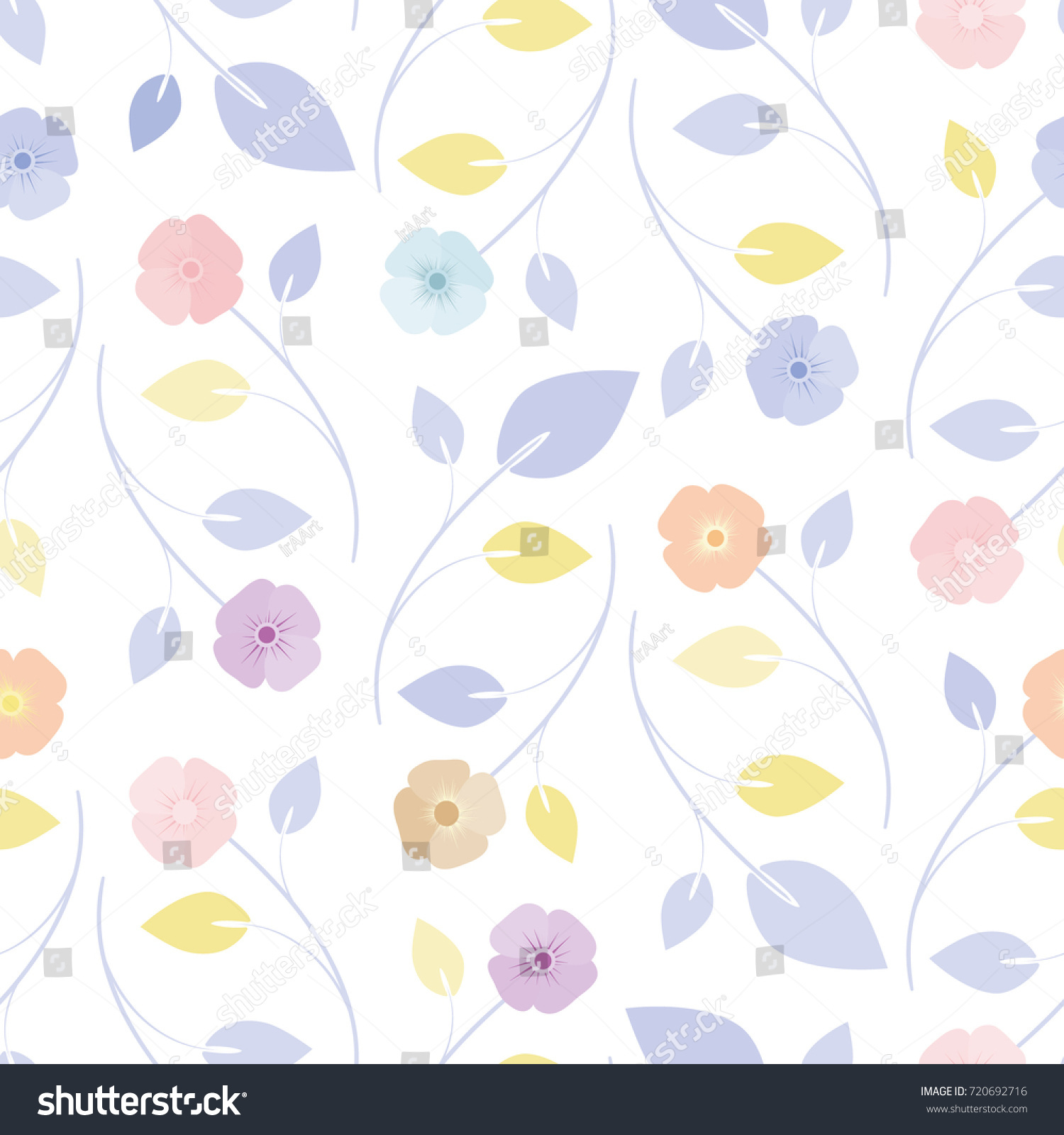 Cute seamless floral pattern simple flowers cute seamless floral pattern simple flowers 720692716 shutterstock voltagebd Images