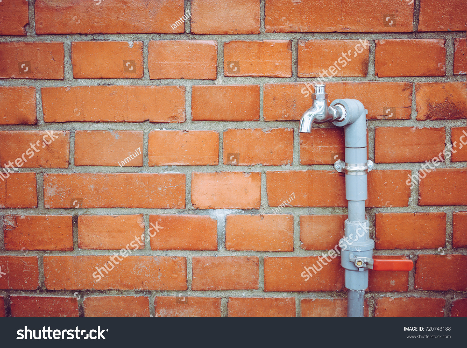 Outdoor Faucet Water Tap Gray PVC Stock Photo (Download Now ...