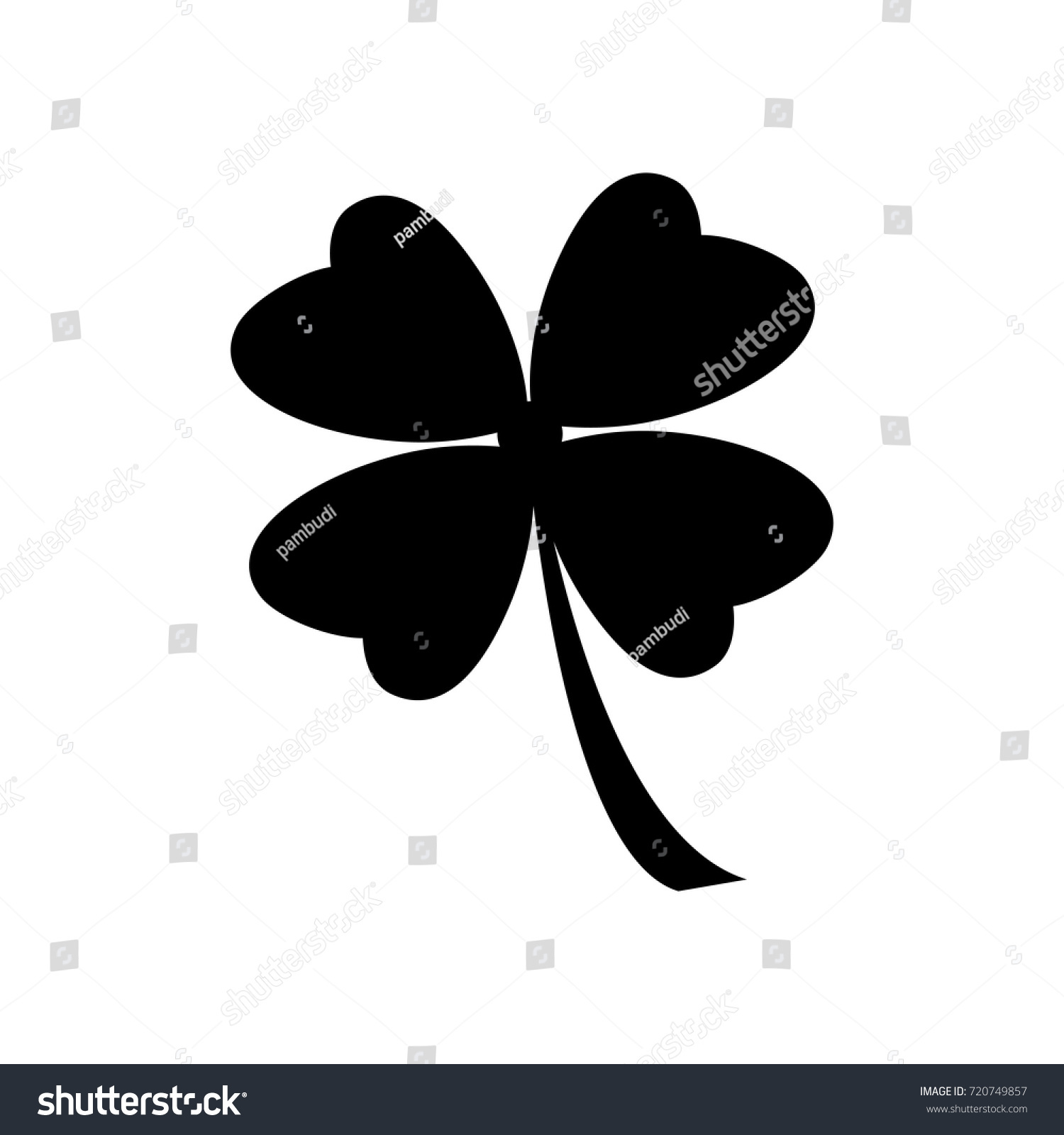 four leaf clover icon stock vector 720749857 shutterstock