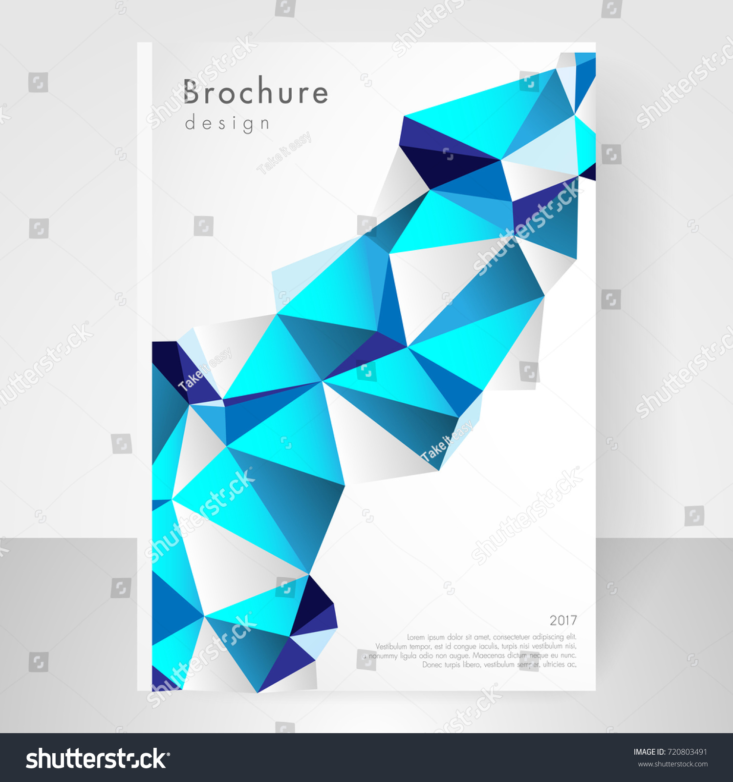 Business Brochure Cover Template Cover Design Stock Vector 720803491 ...