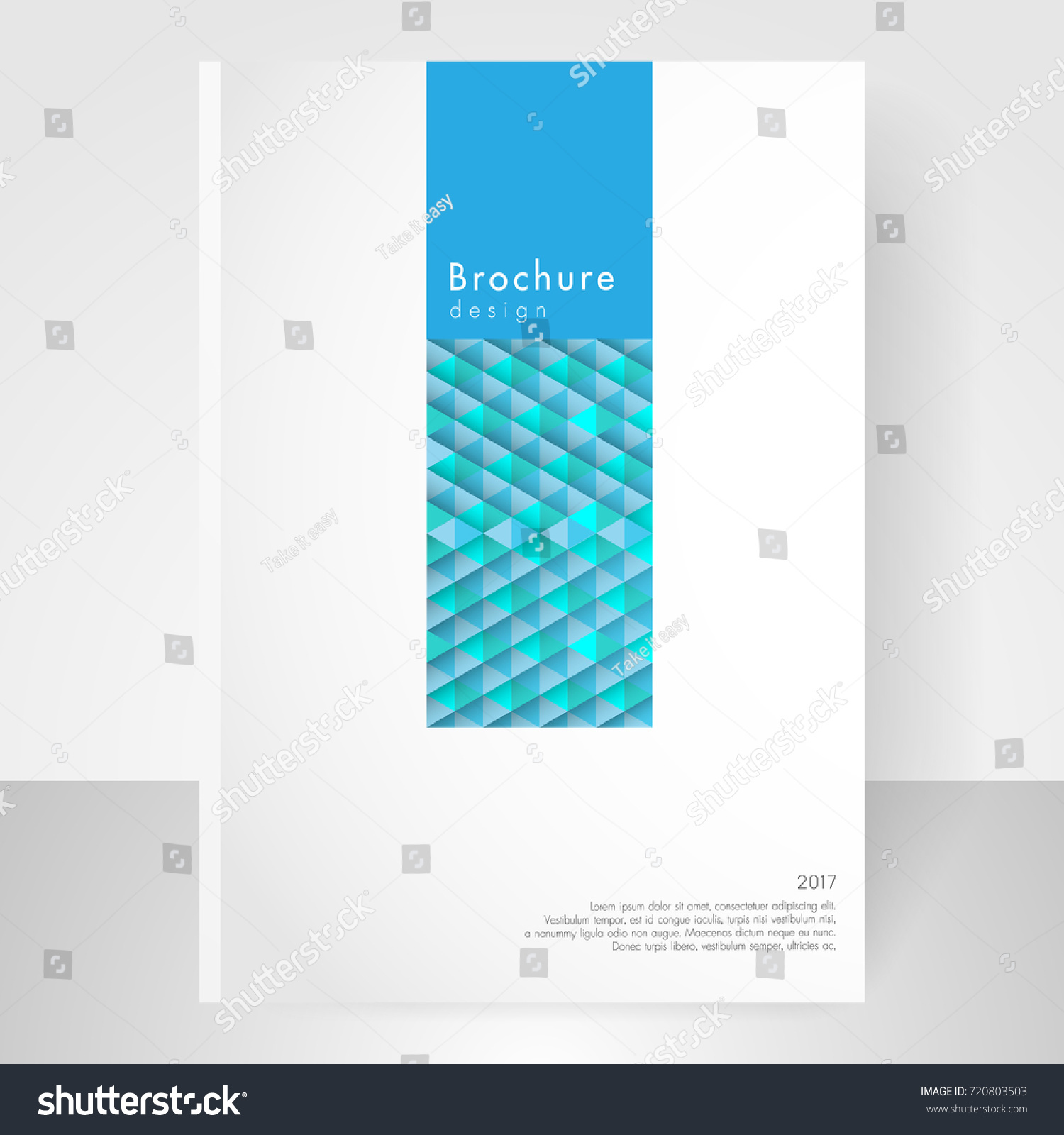 business brochure cover template cover design stock vector 720803503