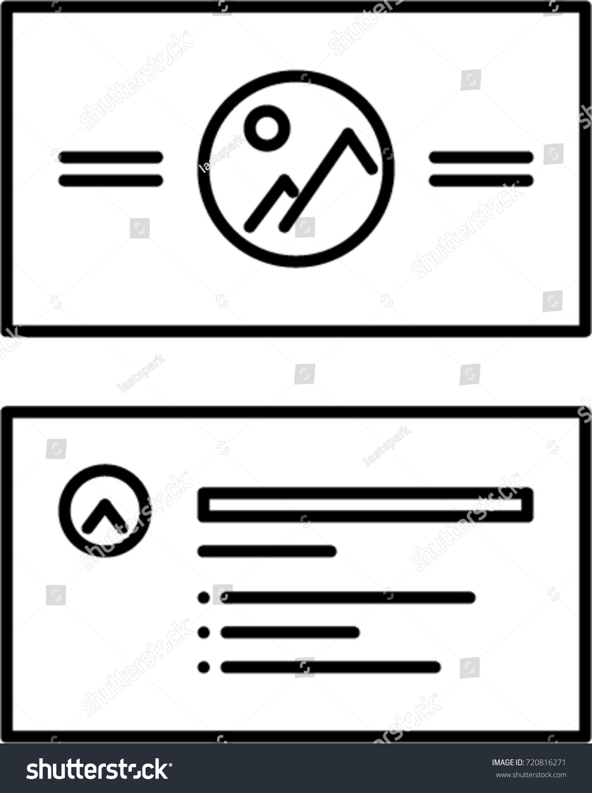 Business Card Outline Icon Stock Vector 720816271 - Shutterstock