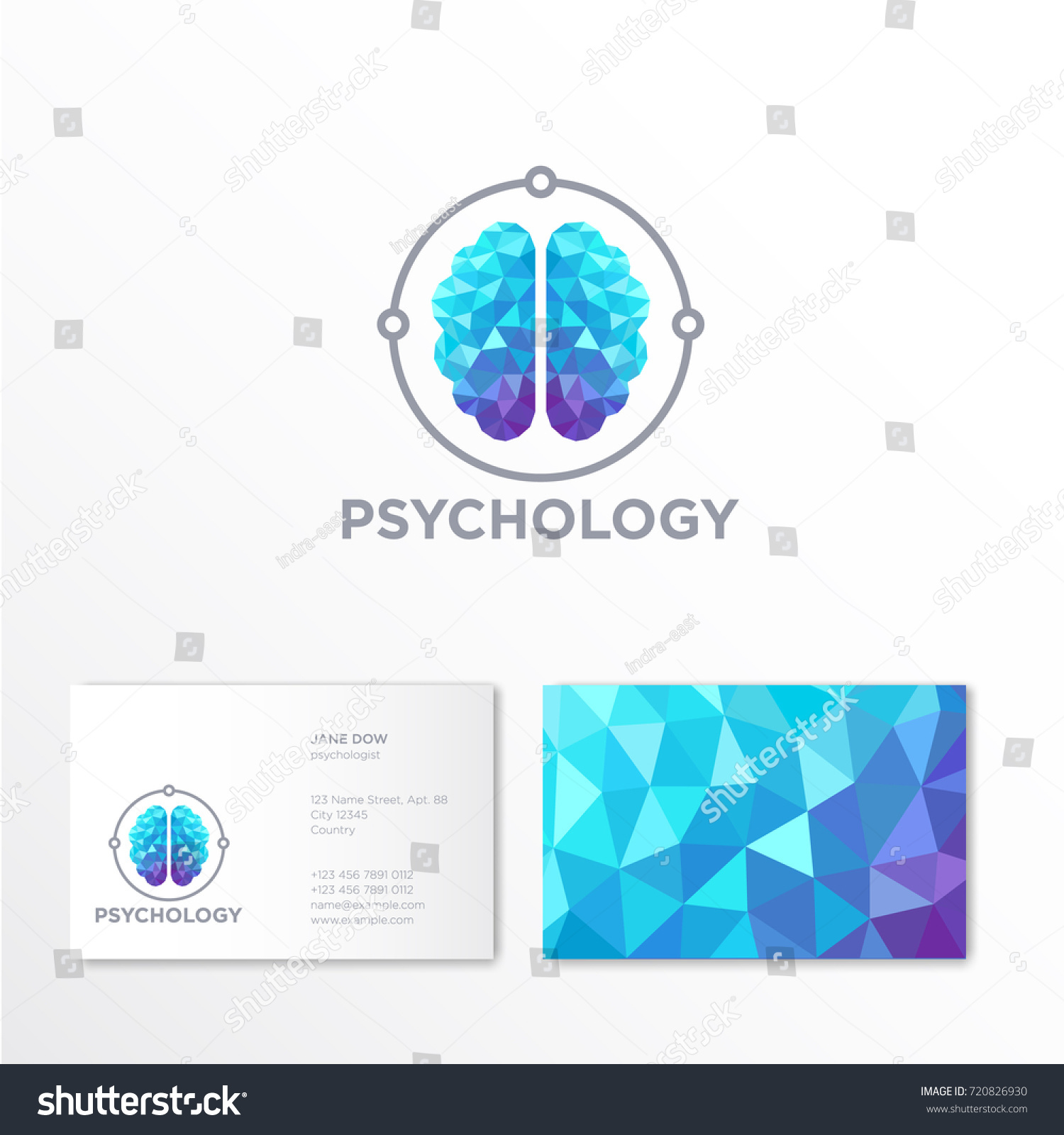 Psychology logo crystal brain emblem identity stock vector psychology logo crystal brain emblem identity business card magicingreecefo Choice Image