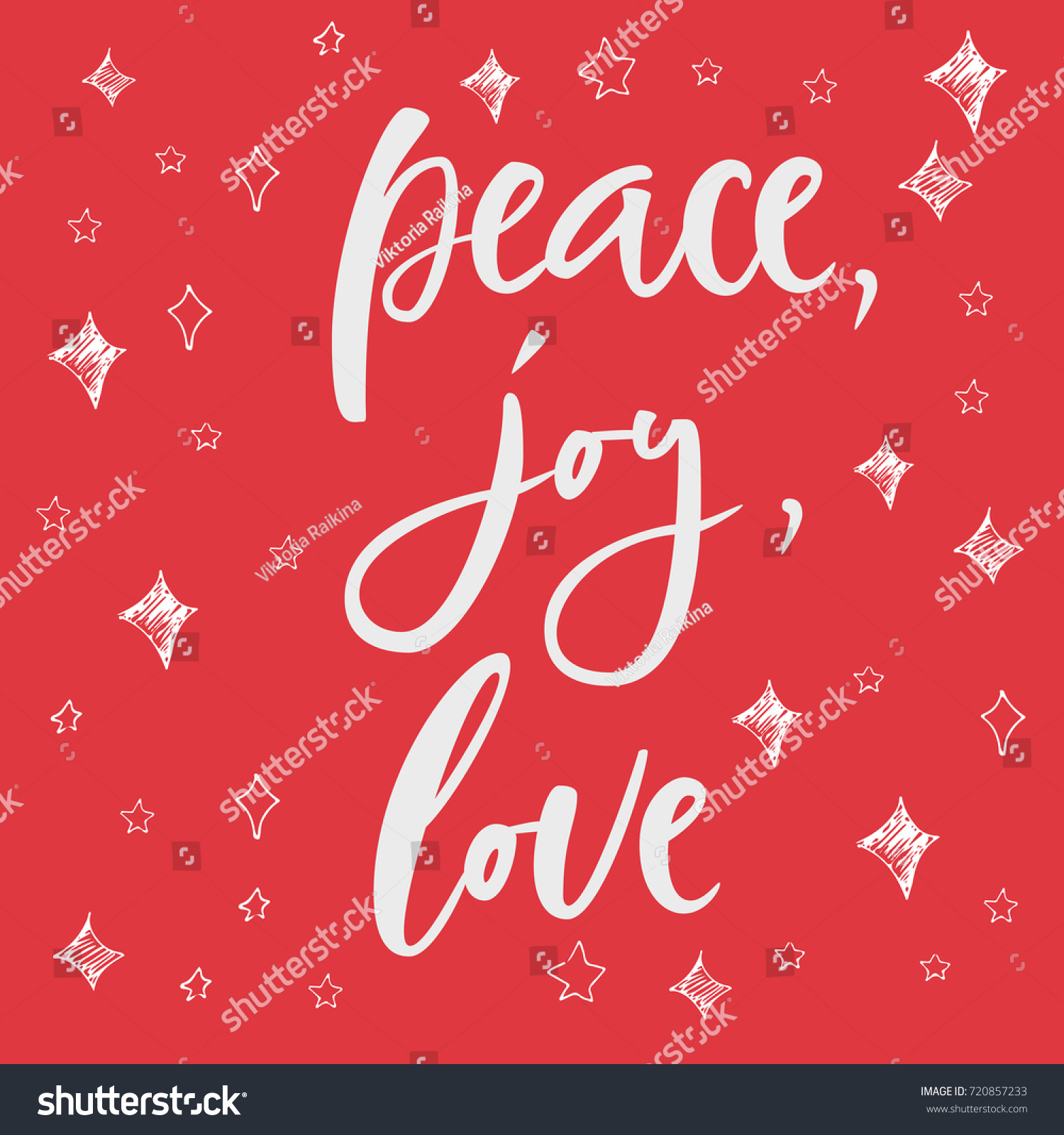 Peace Joy Love Greeting Card On Stock Vector Royalty Free