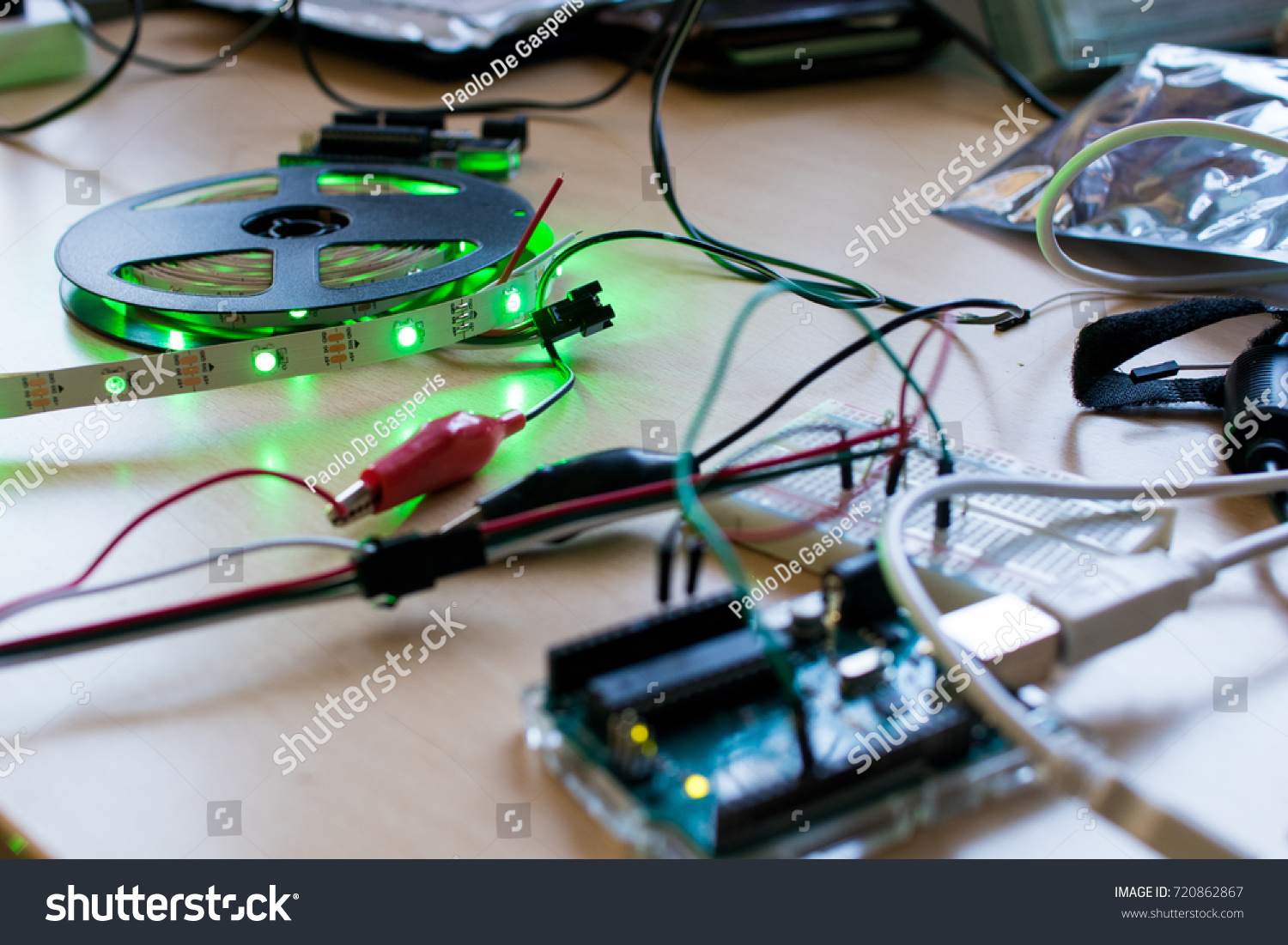 RGB Led Strip Addressable Controlled By Stock Photo (Royalty Free ...