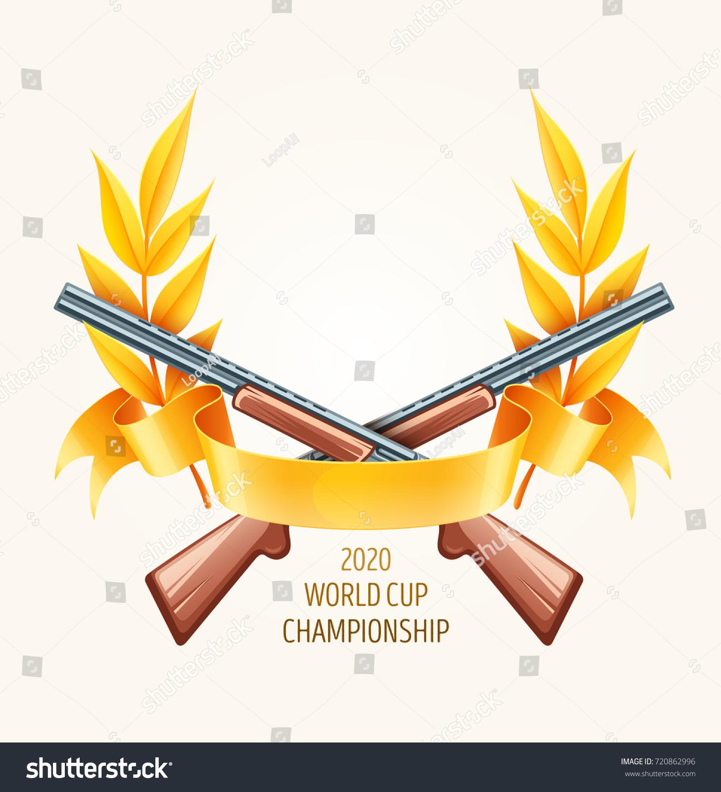 emblem hunting shooting rifles championship logo stock