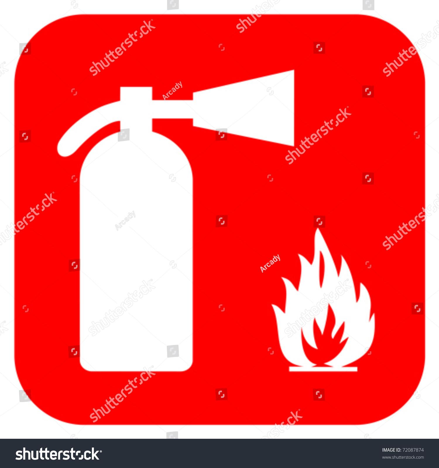 fire extinguisher sign stock vector illustration 72087874