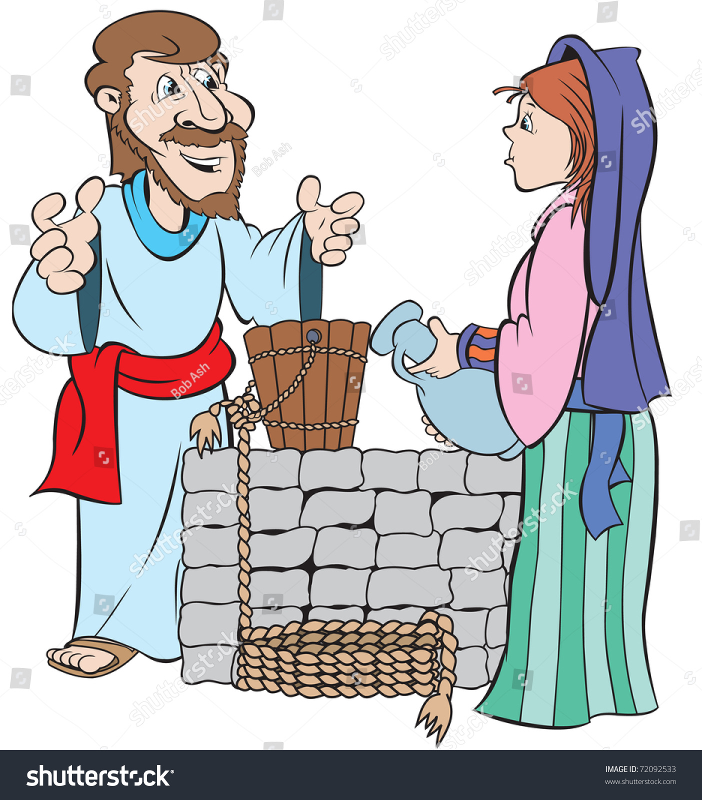 clipart jesus and the woman at the well - photo #20
