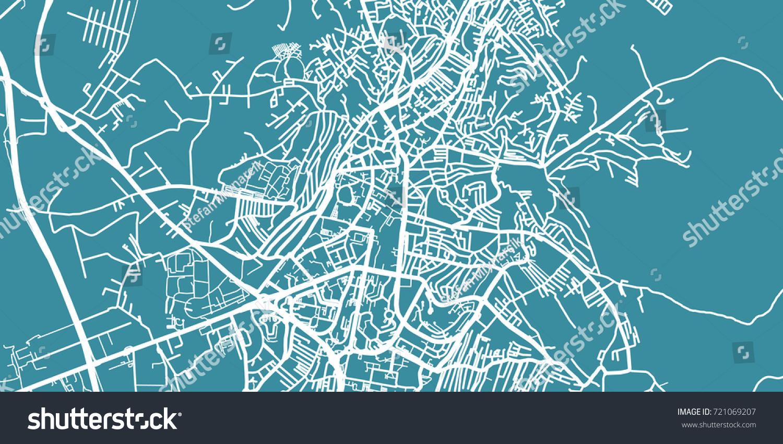 Detailed Vector Map Pristina Scale Stock Vector - pristina map