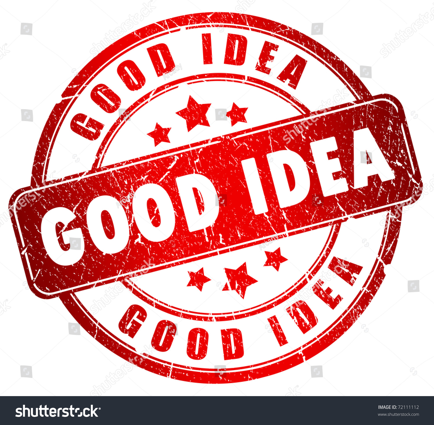 Good Picture Ideas: Good Idea Stamp Stock Photo 72111112 : Shutterstock
