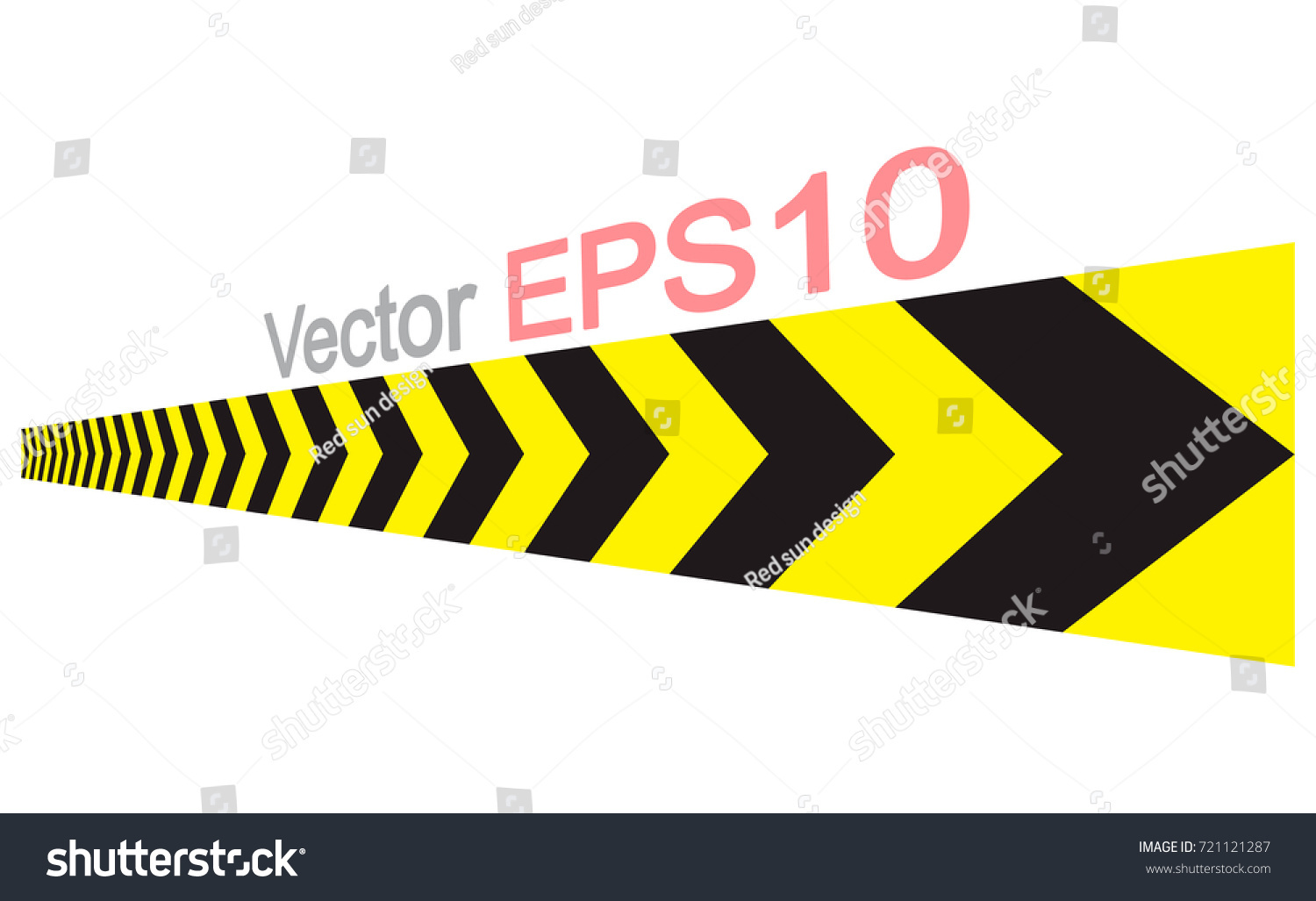 Caution Sign Arrow Yellow Black Color Stock Vector Royalty Free