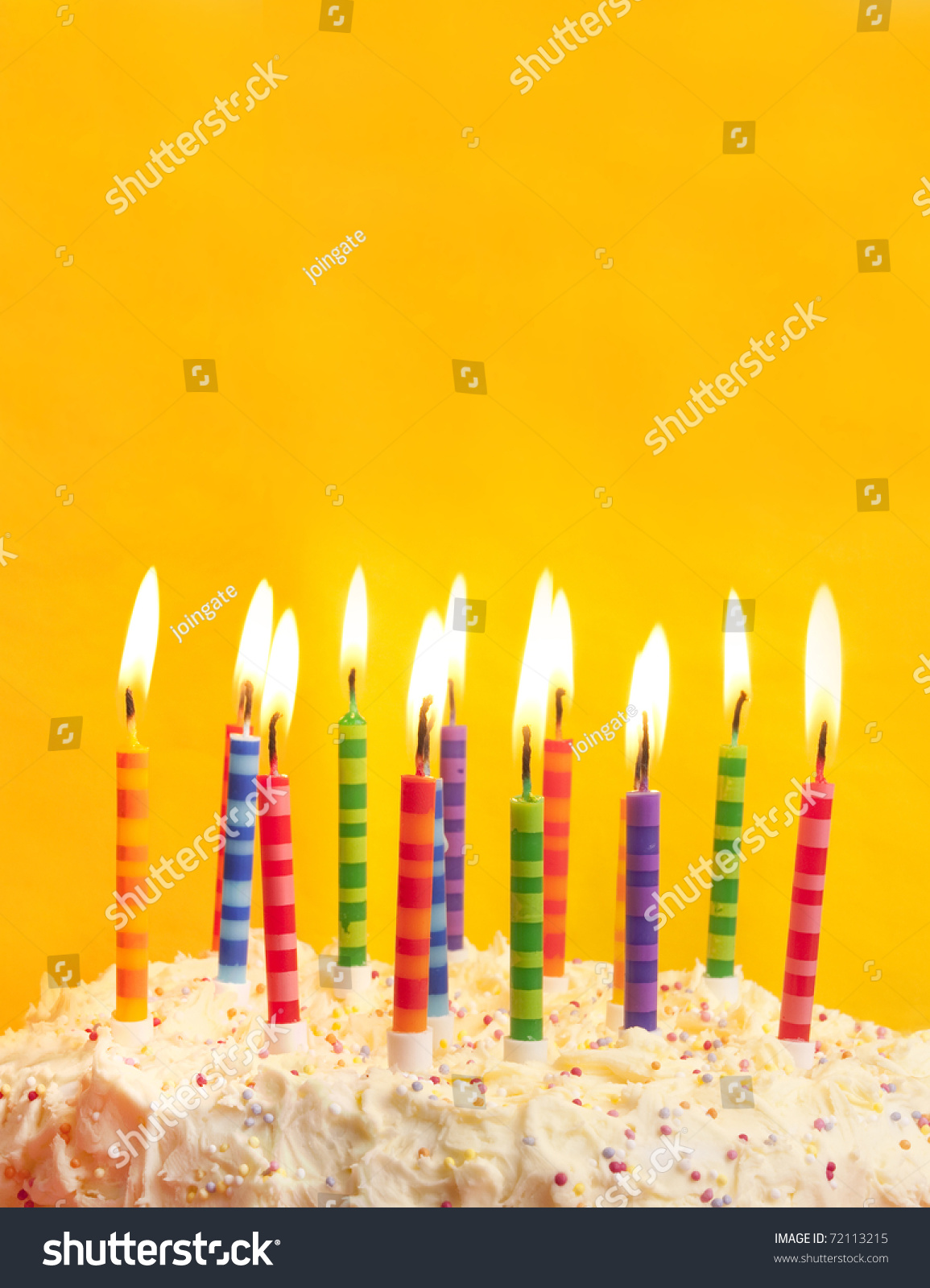 Astounding Happy Birthday Cake Shot On Yellow Stock Photo Edit Now 72113215 Funny Birthday Cards Online Fluifree Goldxyz