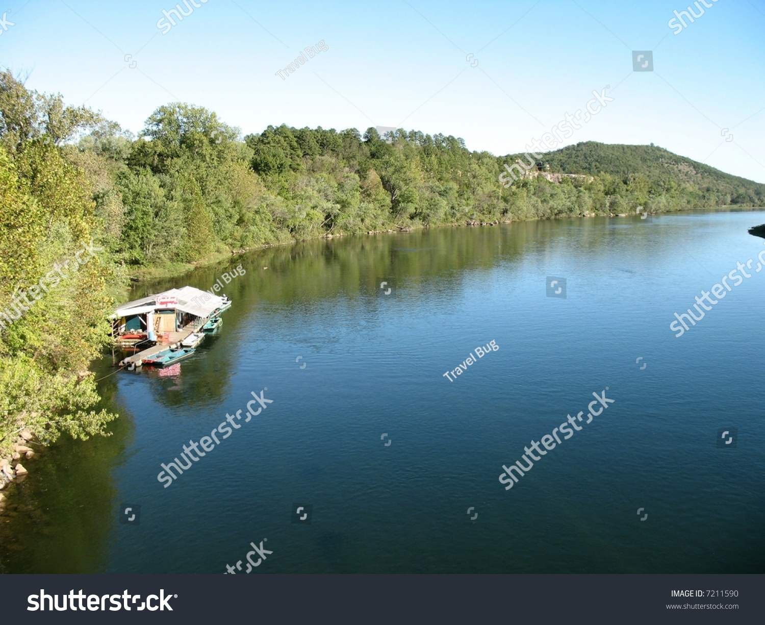 Trout fishing camp on white river stock photo 7211590 for White river fishing