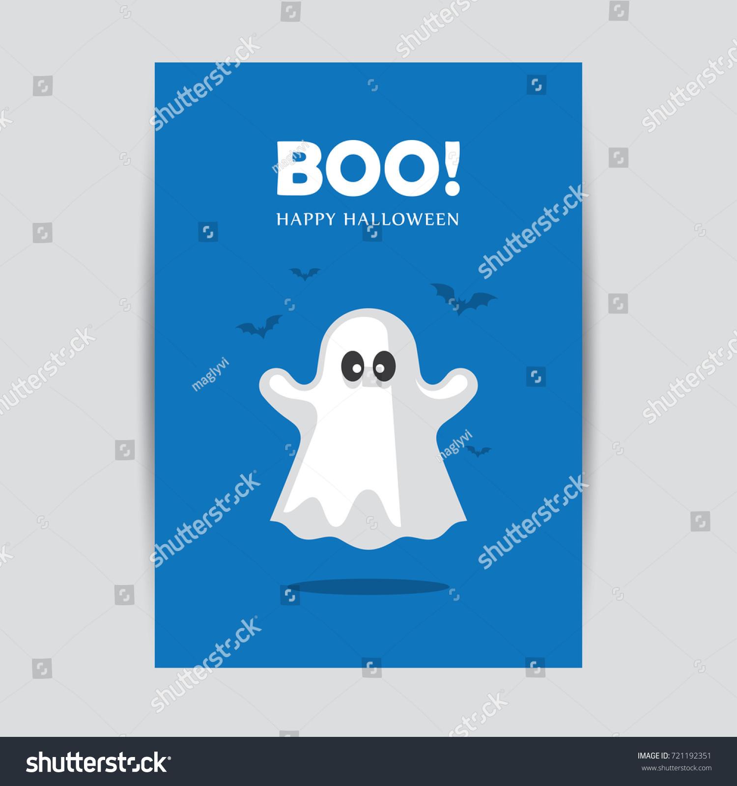Halloween Greeting Card Banner Poster Design Stock Vector