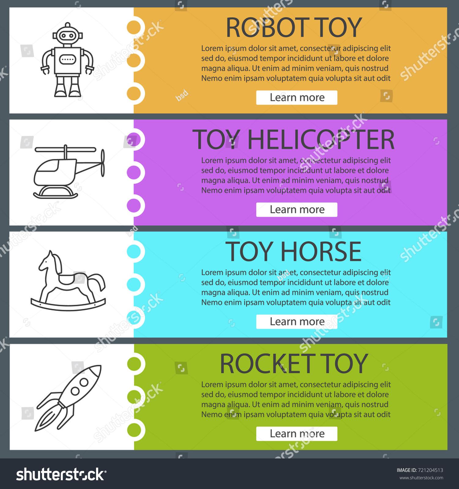 6 Salon Menu Template Procedure Sample Check Voucher Stock Vector Kids Toys  Web Banner Templates Set