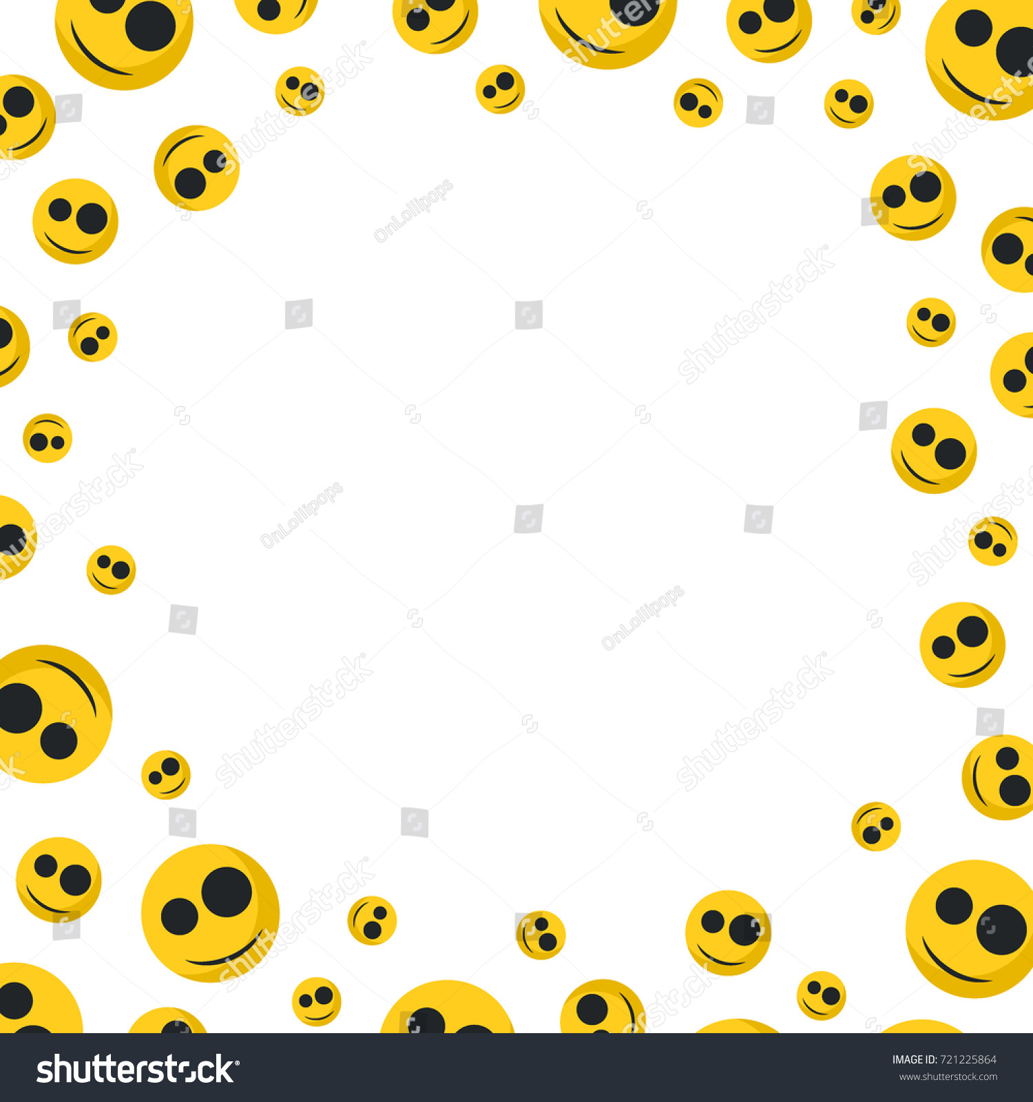 Smiley faces emoji blank space text stock vector 721225864 smiley faces emoji with blank space for text vector illustration buycottarizona Images