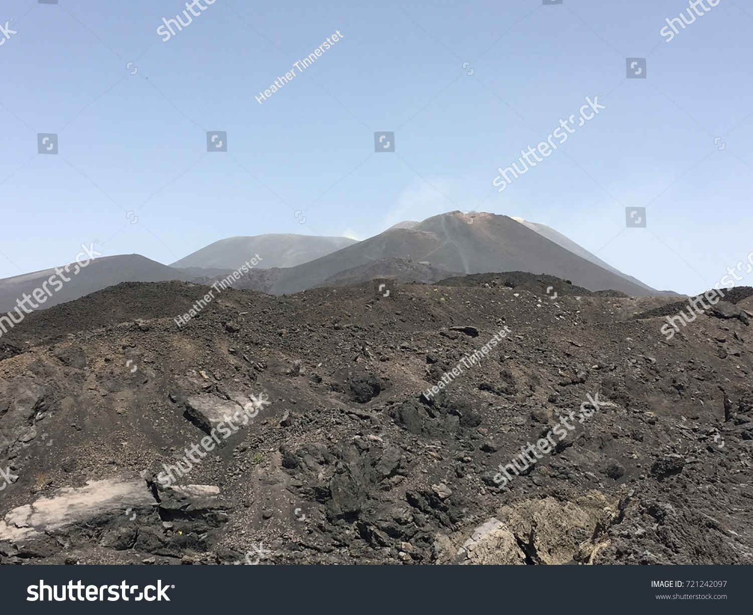 Hike Mt Etna Cable Car Torre Stock Photo 721242097 Shutterstock