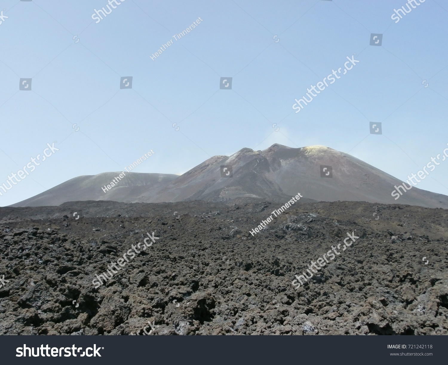 Hike Mt Etna Cable Car Torre Stock Photo 721242118 Shutterstock