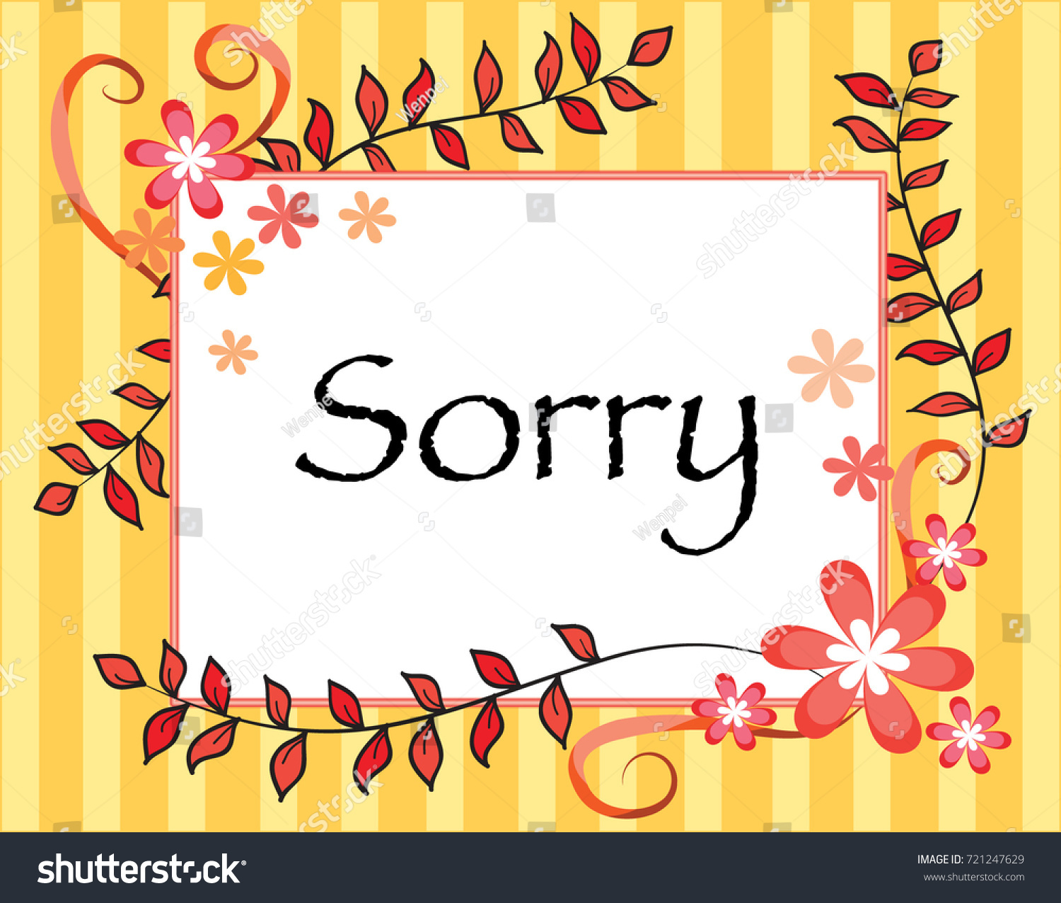 Apology card sorry stock vector 721247629 shutterstock apology card sorry kristyandbryce Gallery