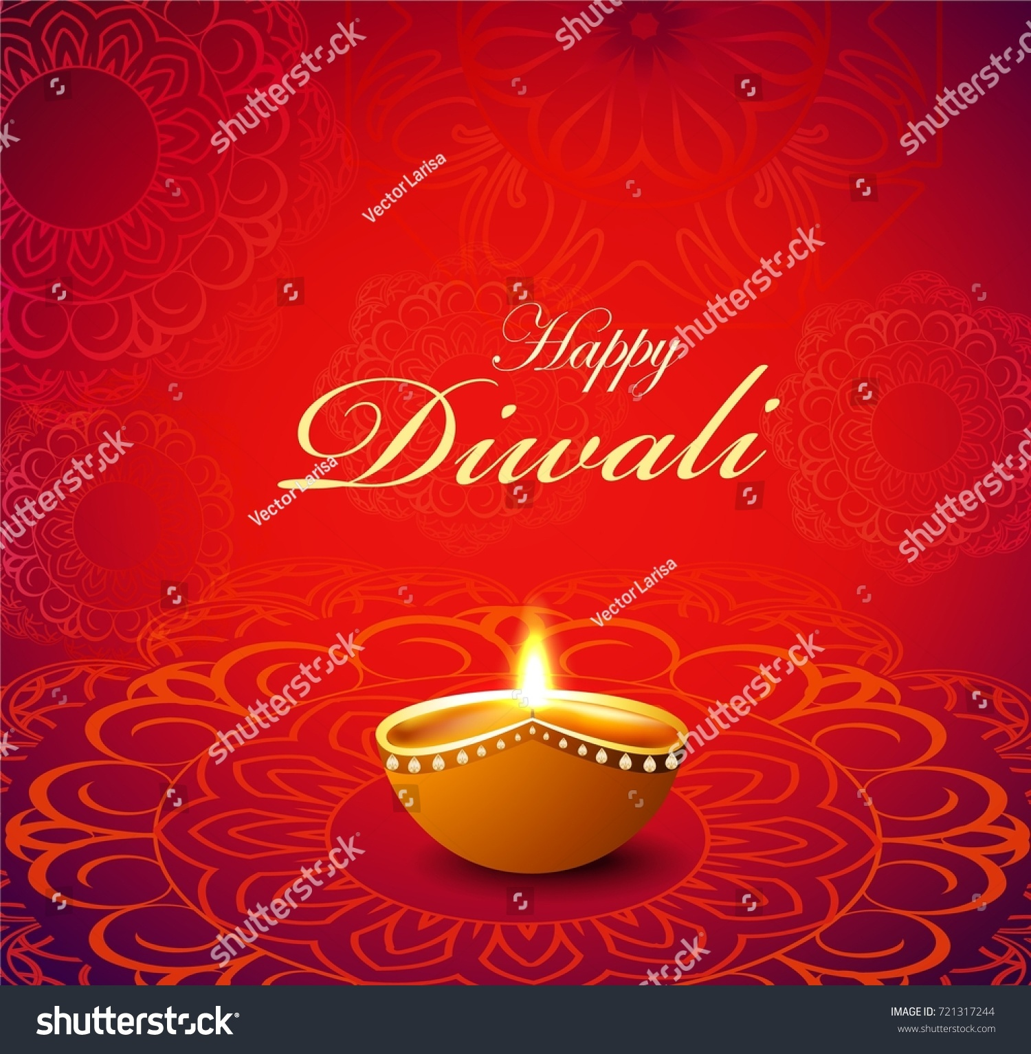 Template Greeting Card Designs Holiday Diwali Stock Vector 2018