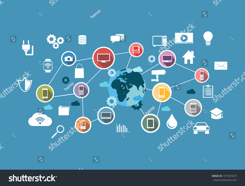 Smart System Computing System Internet Thing Stock-Vektorgrafik ...