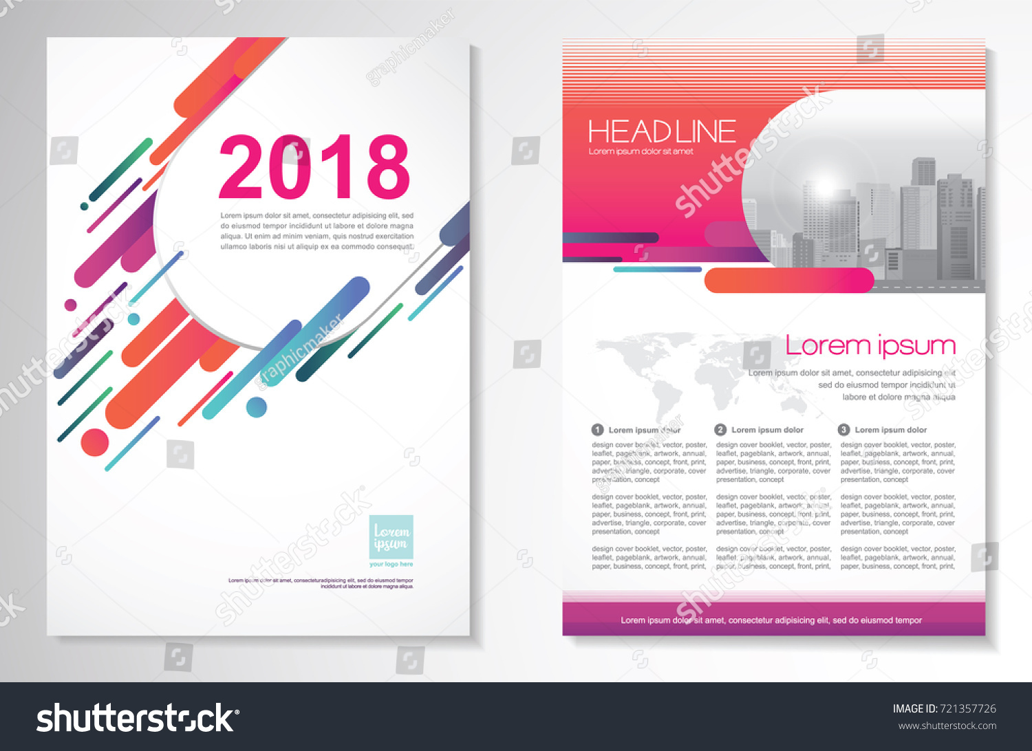 template vector design for brochure annual report magazine poster