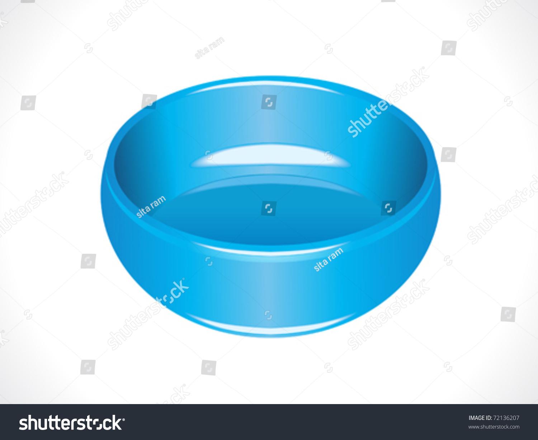 Plastic Glossy Blue Tub Vector Illustration Stock Vector 72136207 ...