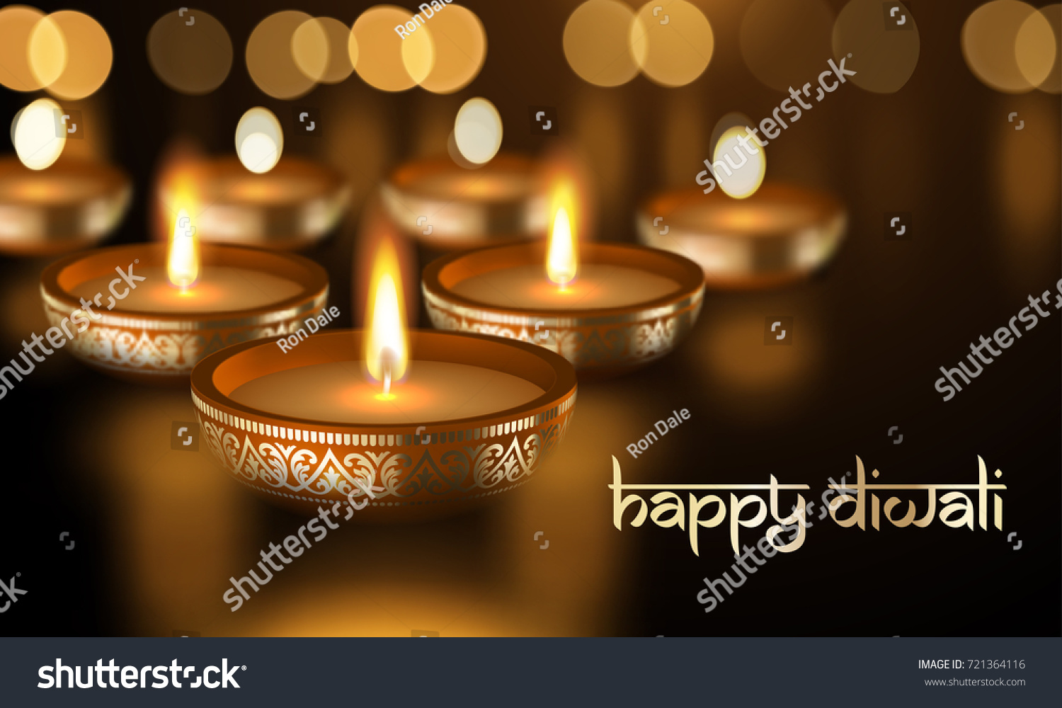 Happy diwali holiday greeting card template stock vector 721364116 happy diwali holiday greeting card template of gold candle light flame in golden premium bowl with kristyandbryce Gallery
