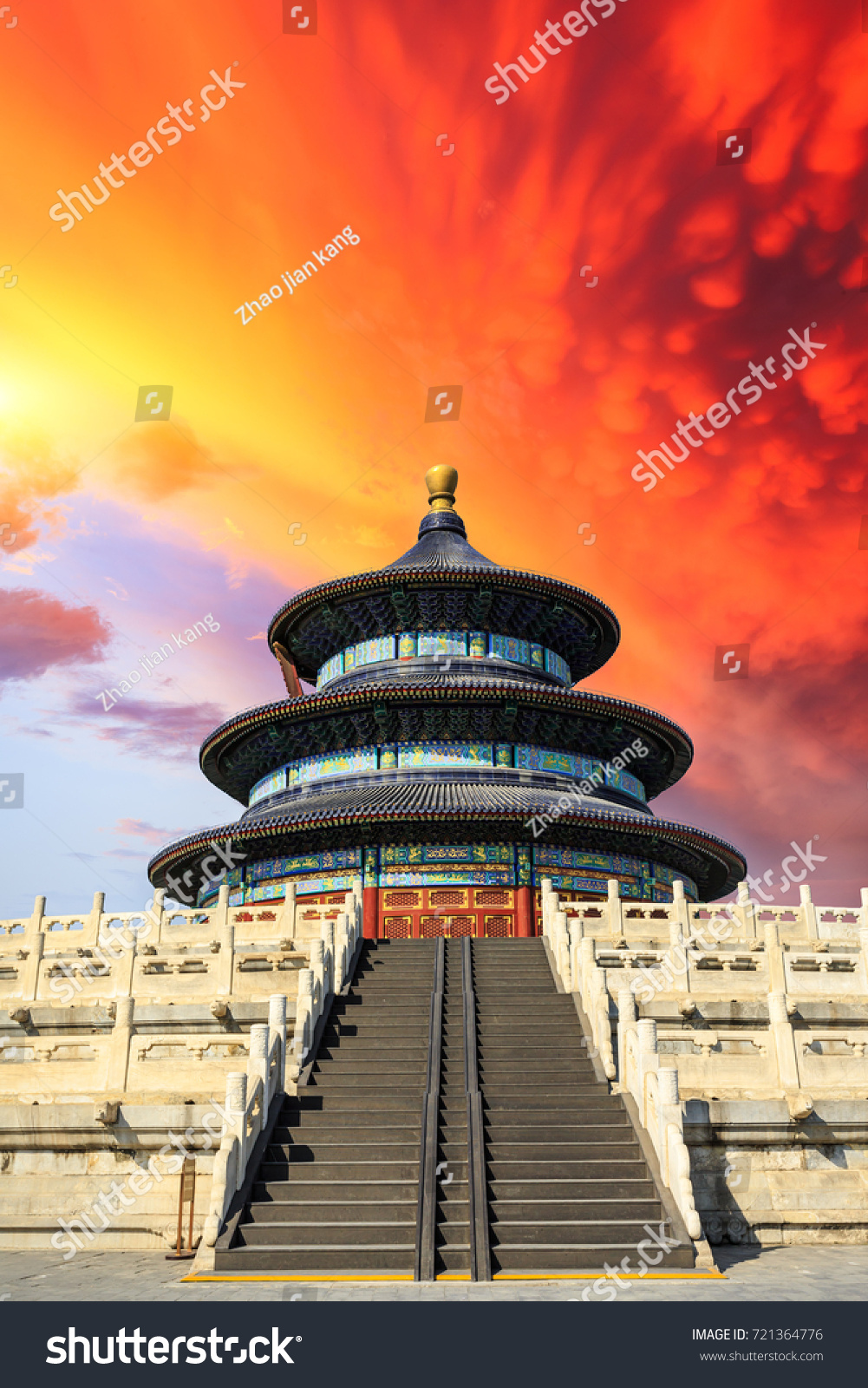 Temple heaven landscape sunset beijingchinese cultural stock photo temple of heaven landscape at sunset in beijingchinese cultural symbols biocorpaavc Gallery