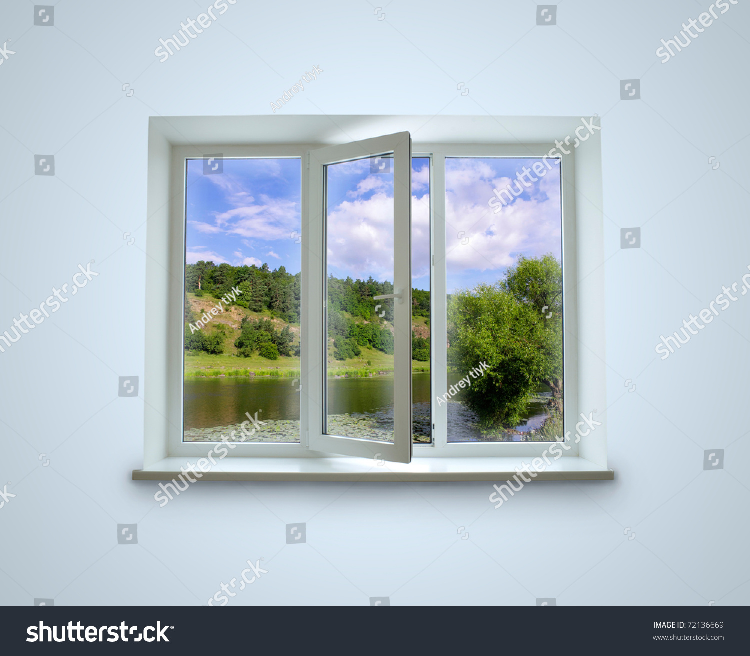 New Closed Plastic Glass Window Frame Stock Photo & Image (Royalty ...