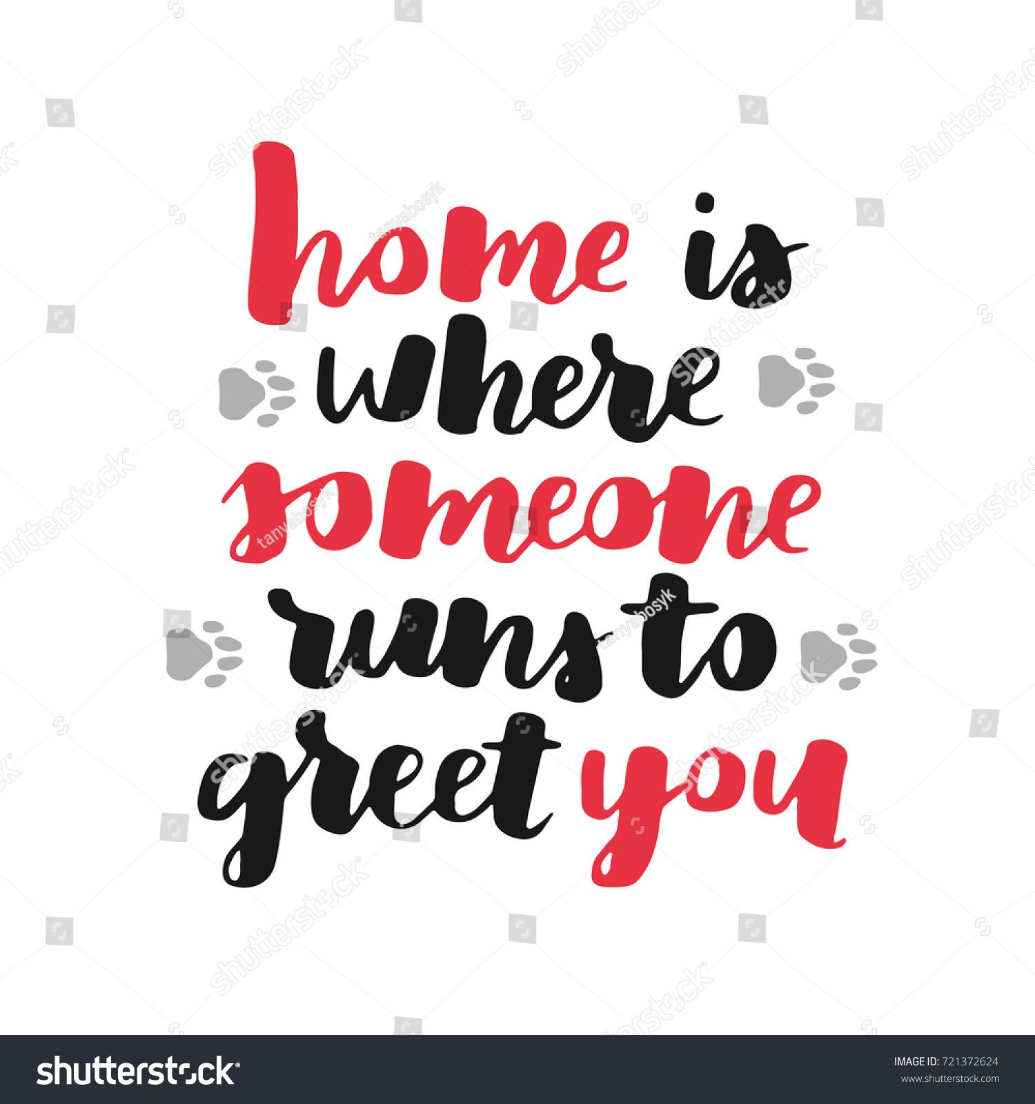 Adoption Quotes Dog Adoption Hand Written Lettering Brush Stock Vector 721372624