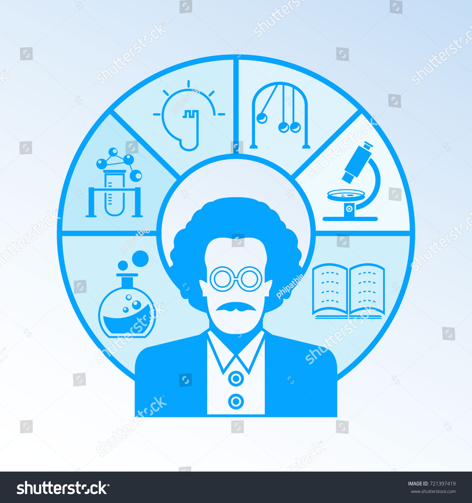Scientist Science Education Icons Stock Vector 721397419 Shutterstock