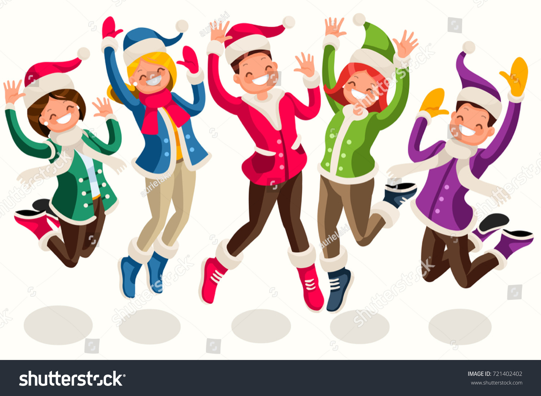 Funny Winter Cartoon Scene Sport Outdoor Stock Vector Royalty Free 721402402