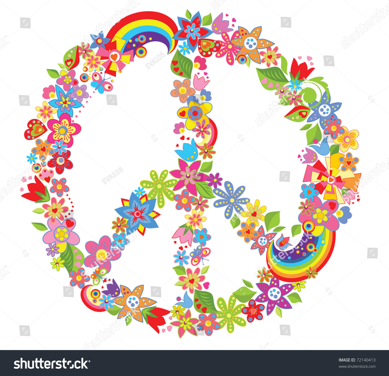 Peace Flower Symbol Stock Vector Illustration Shutterstock