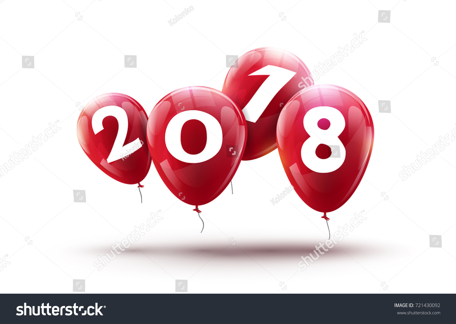 new 2018 year balloons design happy balloon vector decoration for new year celebration