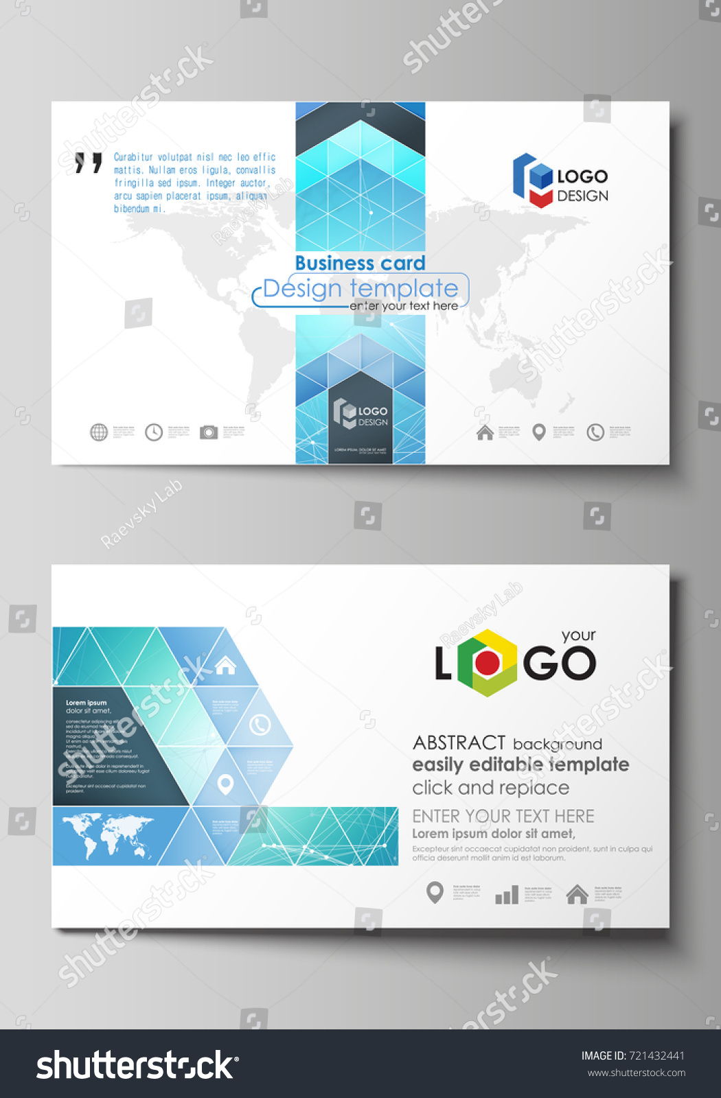Business card templates easy editable layout stock vector 2018 business card templates easy editable layout abstract vector design template chemistry pattern reheart Choice Image