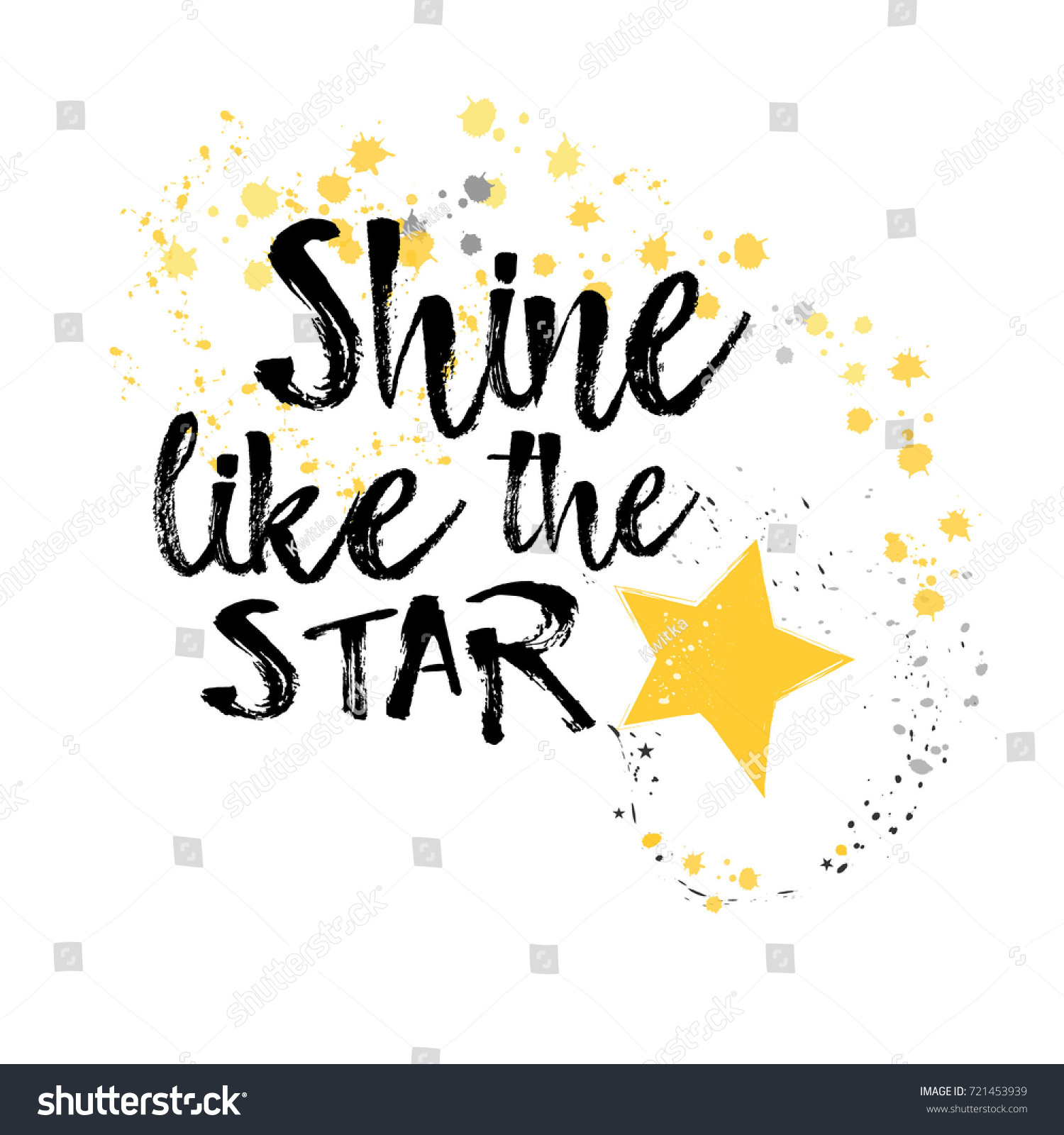 Shine Like Star Inspirational Quote Stars Stock Vector Royalty Free