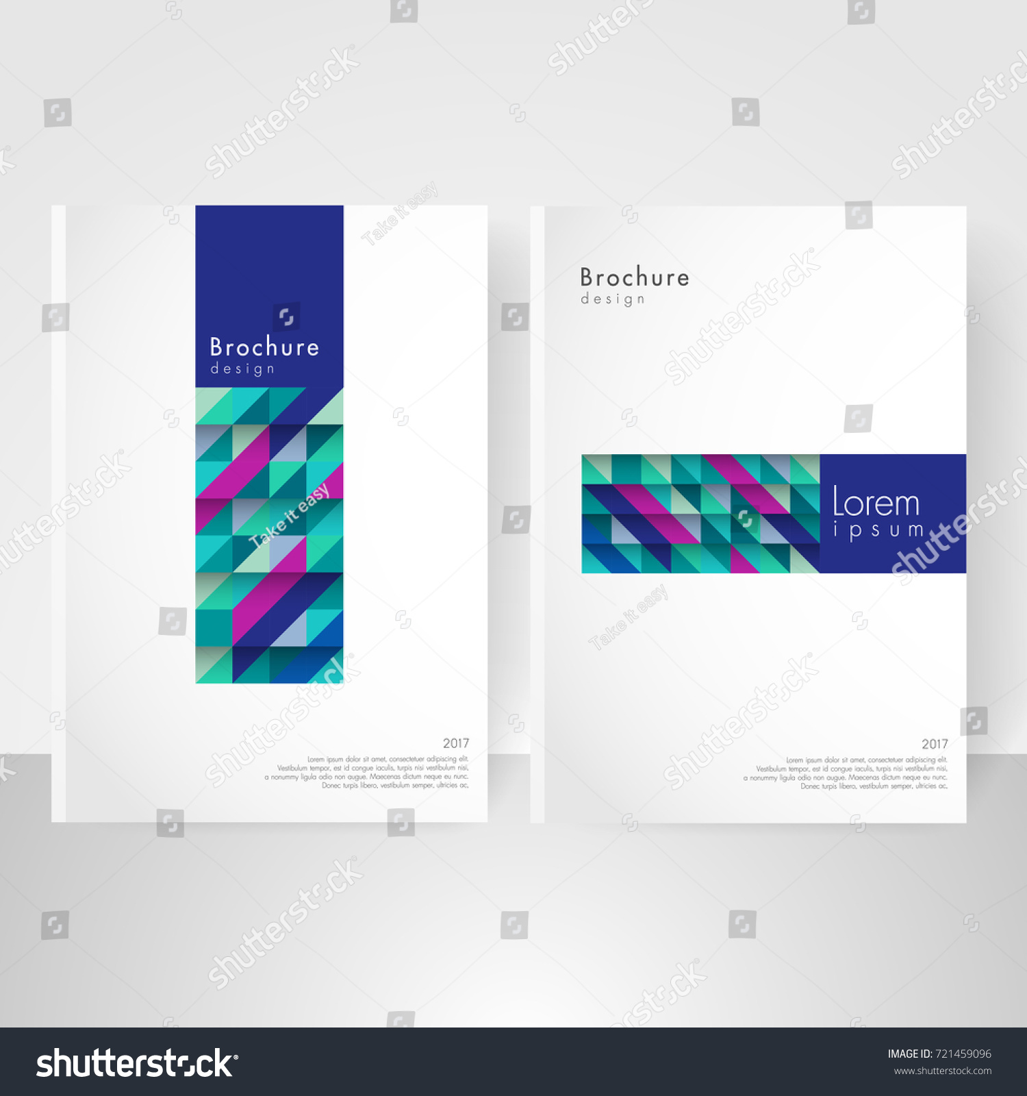 Business Brochure Cover Template Cover Design Stock Vector 721459096 ...