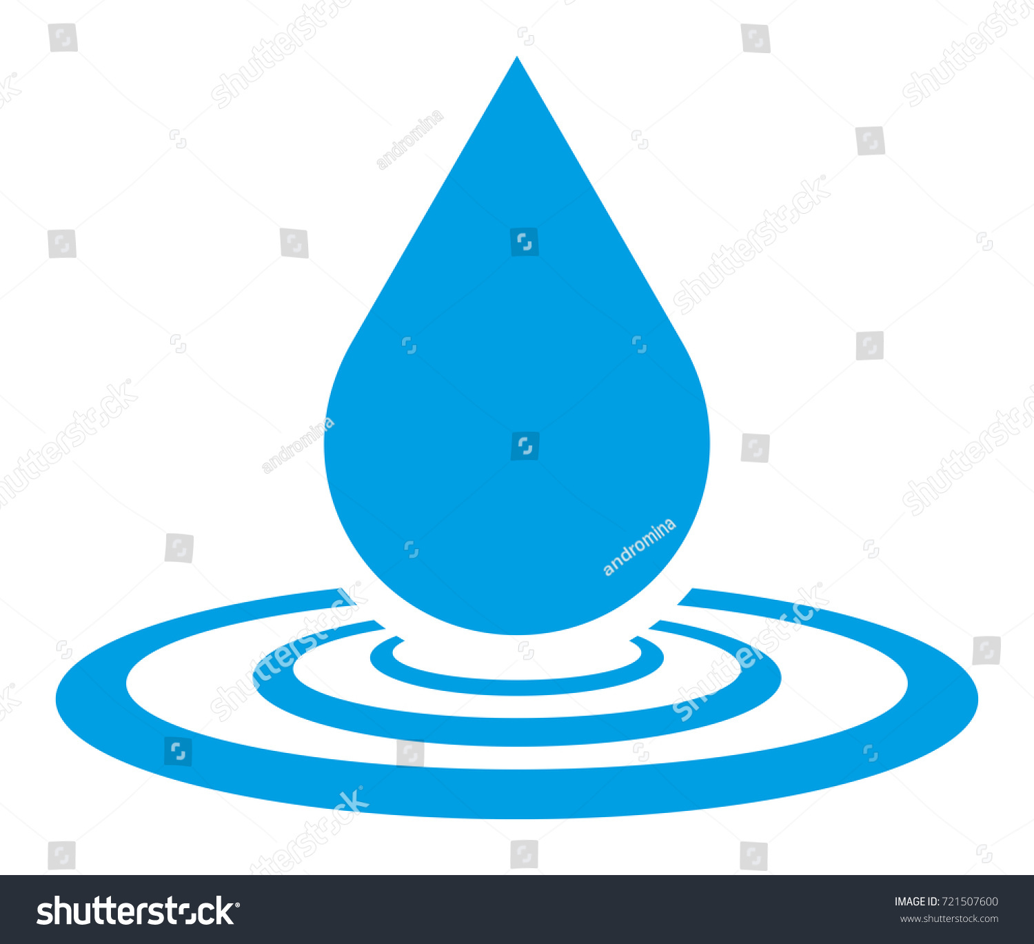 water drop vector icon stock vector 2018 721507600 shutterstock rh shutterstock com water droplet background vector water droplet vector art