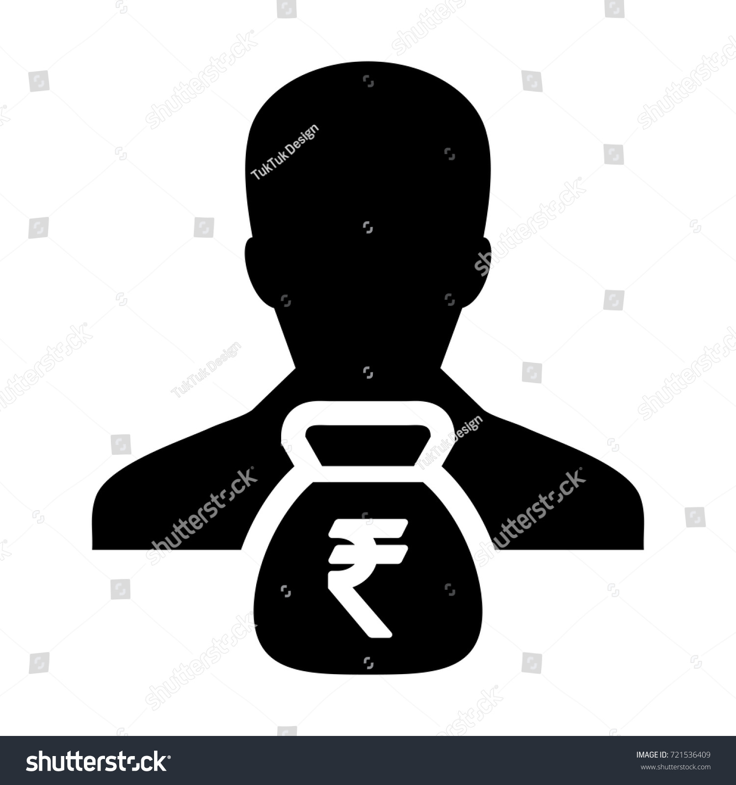 Indian rupee symbol icon vector person stock vector 721536409 indian rupee symbol icon vector person male sign avatar with money bag for business finance and biocorpaavc Choice Image