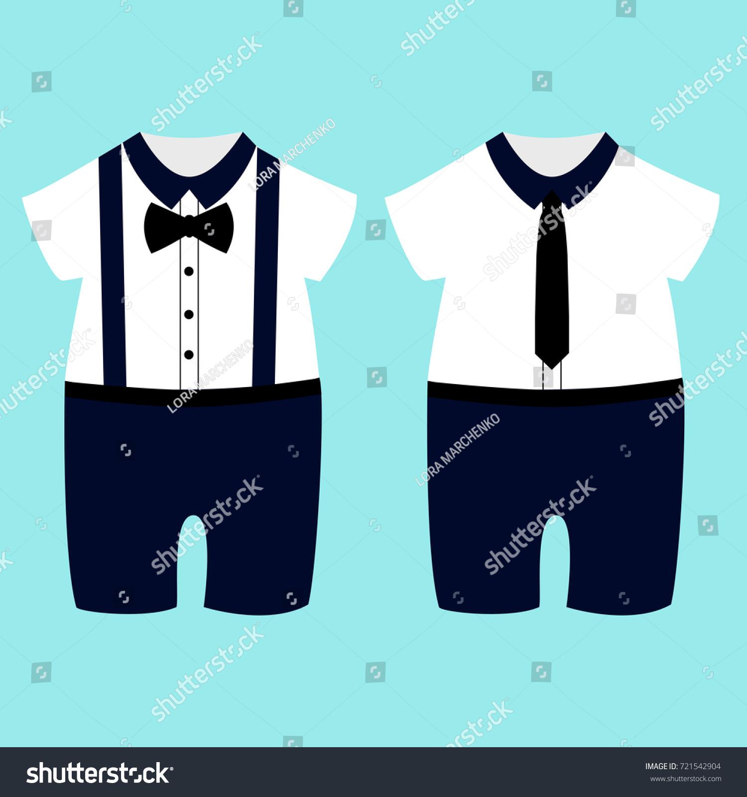 92593d0ce Romper Suit Childrens Tuxedo Boys Vector Stock Vector (Royalty Free ...