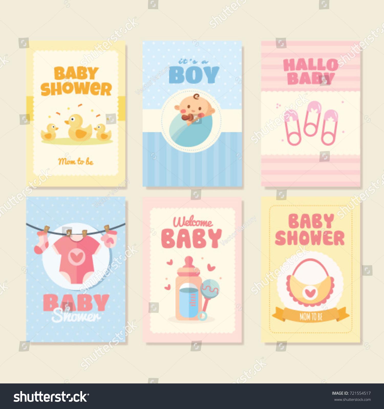 Happy Birthday Holiday Baby Shower Celebration Stock Vector