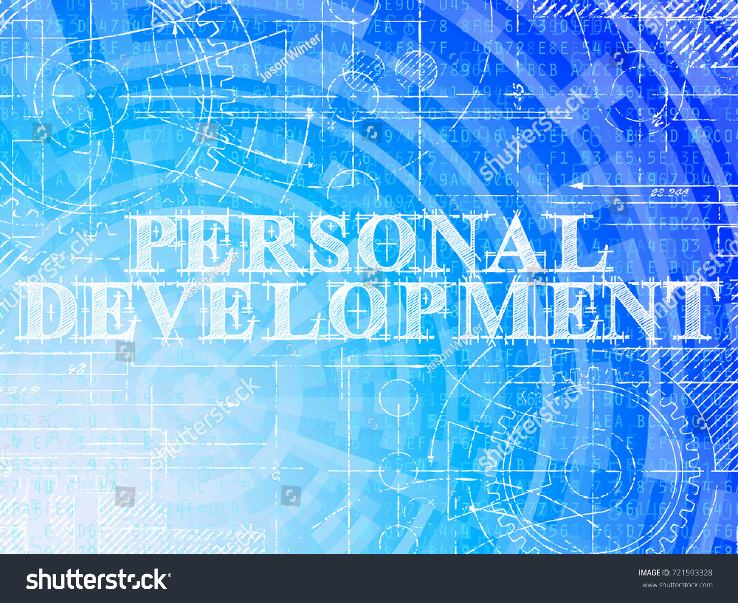 Personal development word on high tech stock vector 721593328 personal development word on high tech blueprint and data background malvernweather Choice Image