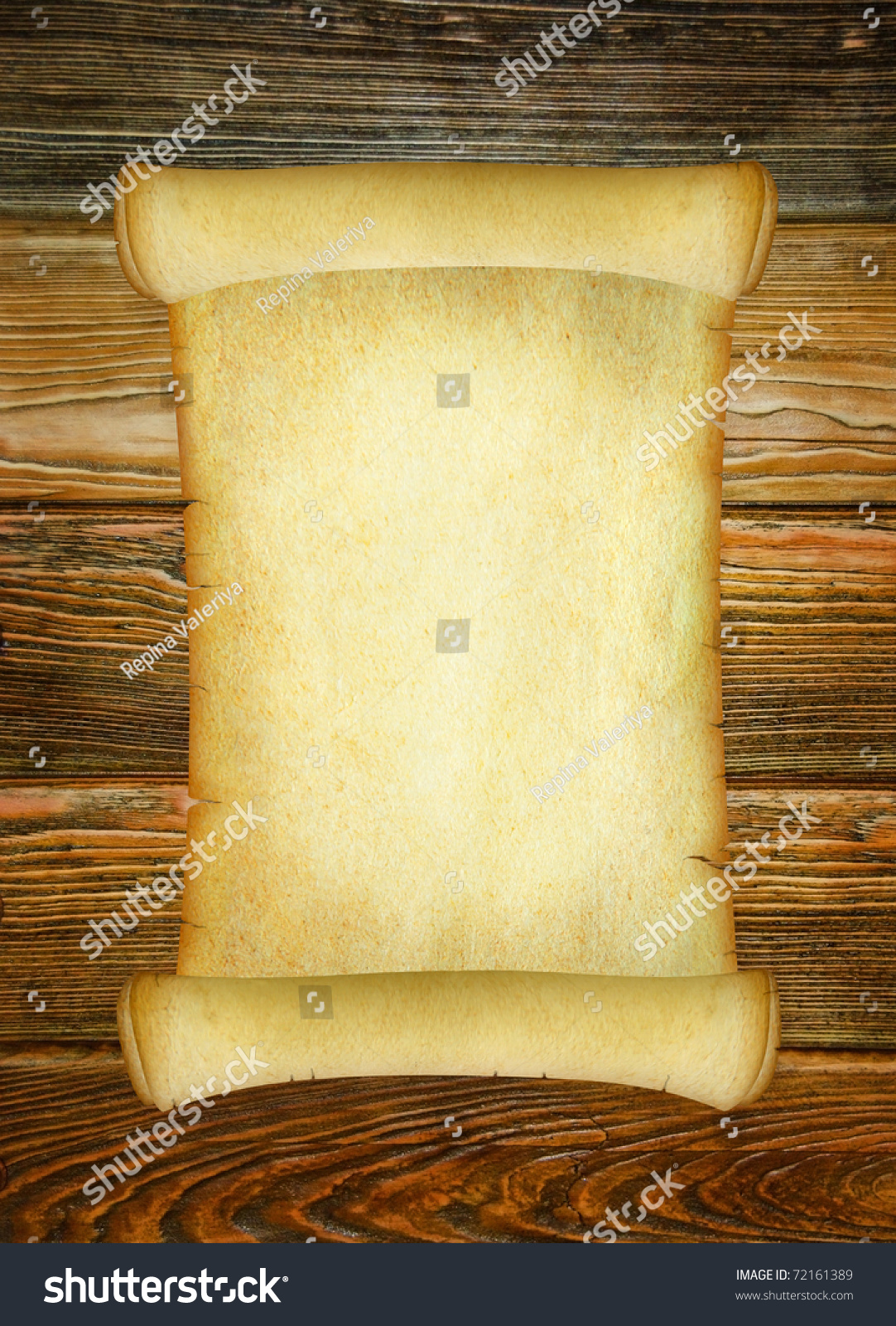 Vintage Paper Background On Brown Wooden Photo 72161389 – Blank Paper Background