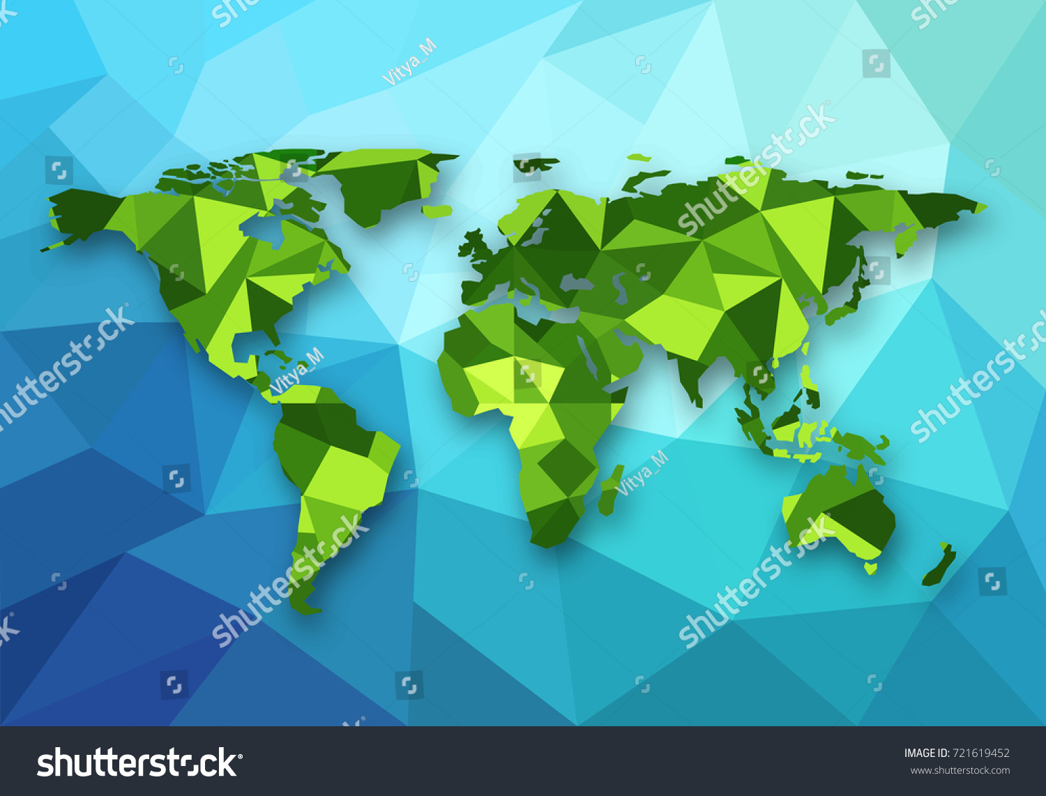Vector polygonal world map low poly vectores en stock 721619452 vector polygonal world map low poly design origami planet illustration conceptual world map gumiabroncs Choice Image