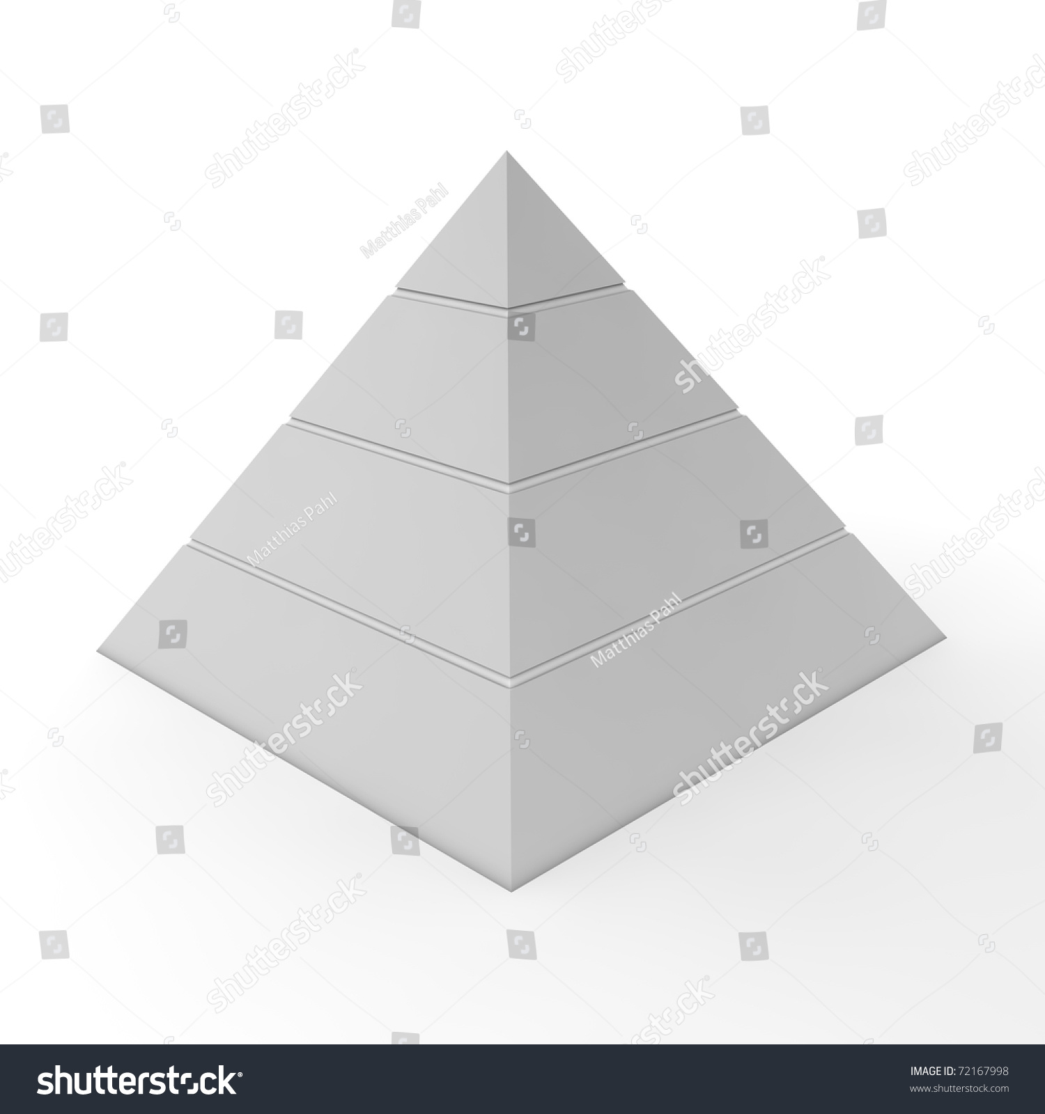 Layered Pyramid Chart Template Four Levels Stock Illustration ...