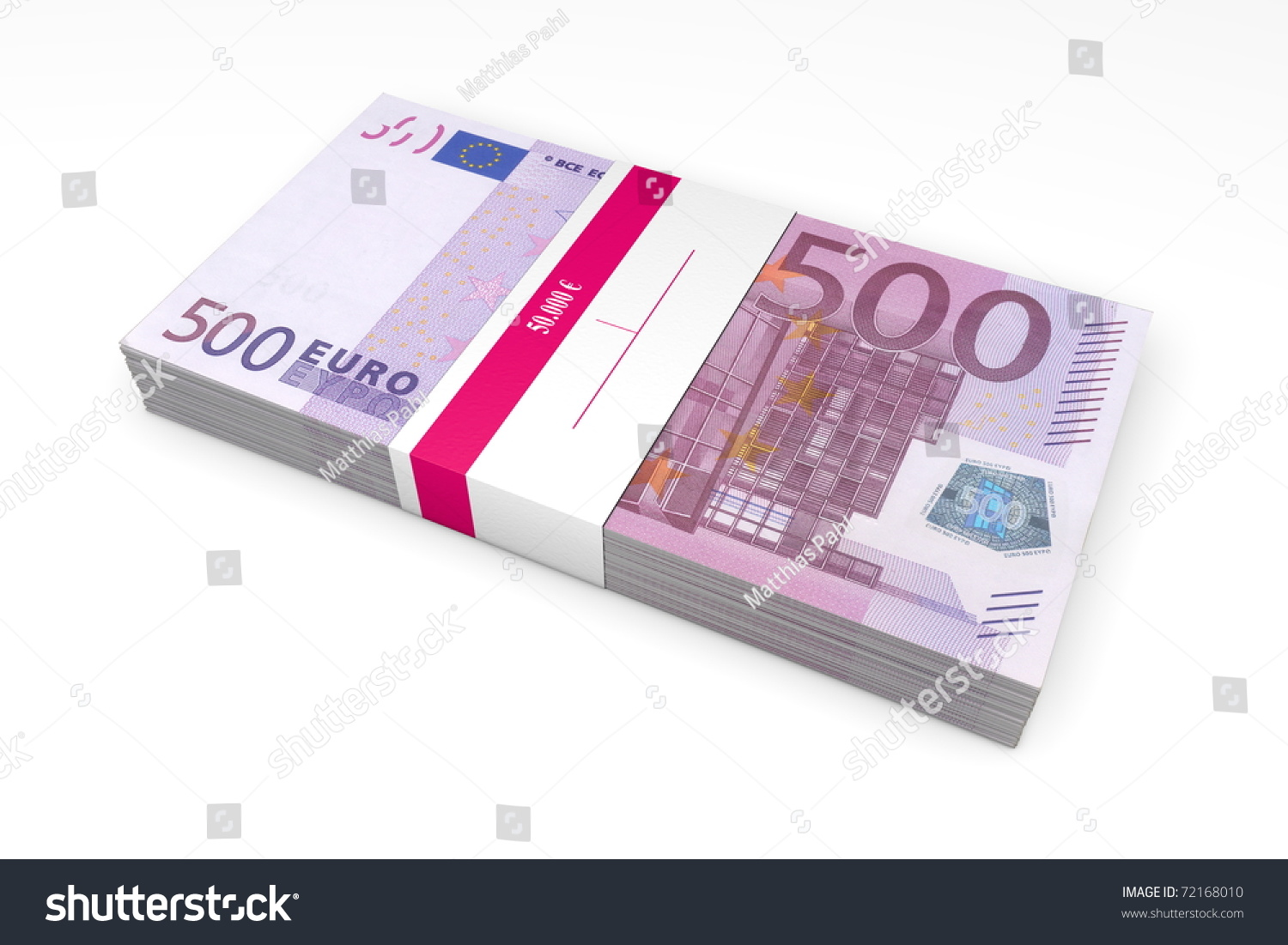 single packet 500 euro notes bank stock illustration 72168010 shutterstock. Black Bedroom Furniture Sets. Home Design Ideas